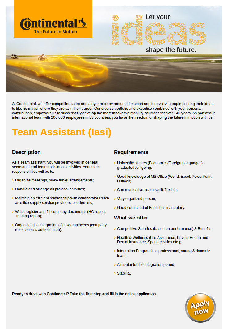 Team Assistant (Iasi)