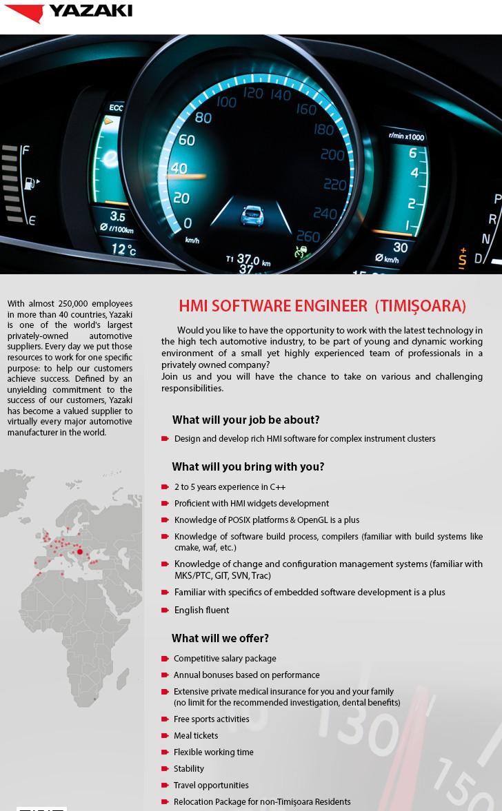 HMI SOFTWARE ENGINEER TIMISOARA