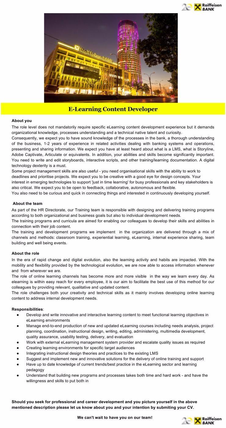 E-Learning Content Developer