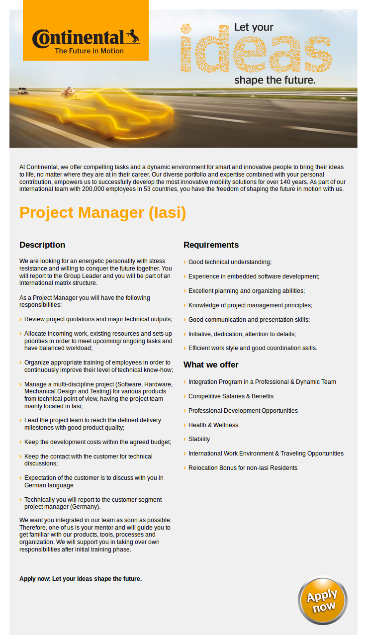 Project Manager (Iasi)