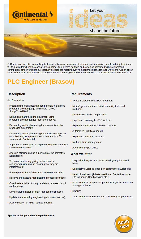 PLC Engineer (Brasov)