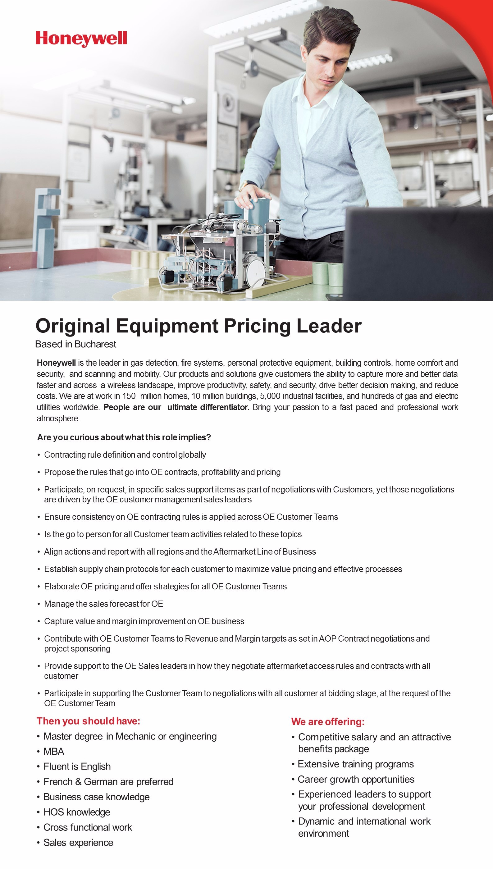 Original Equipment Pricing Leader