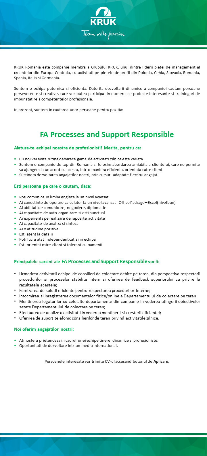 FA Processes and Support Responsible_extern
