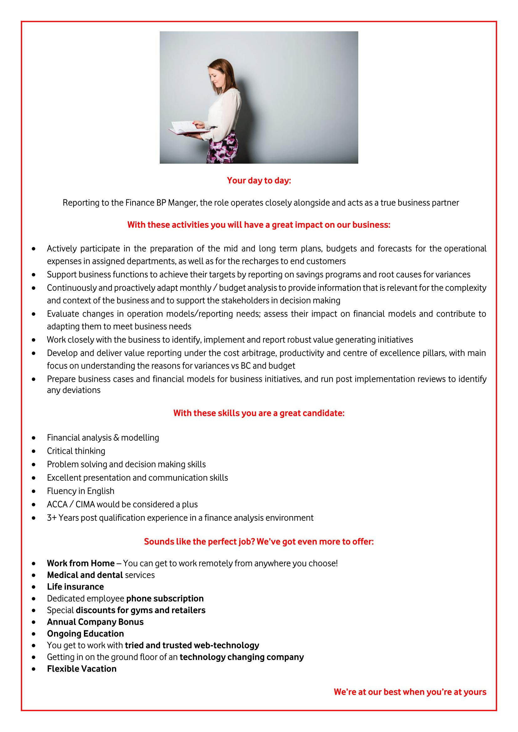 Finance Business Partnering Manager-1