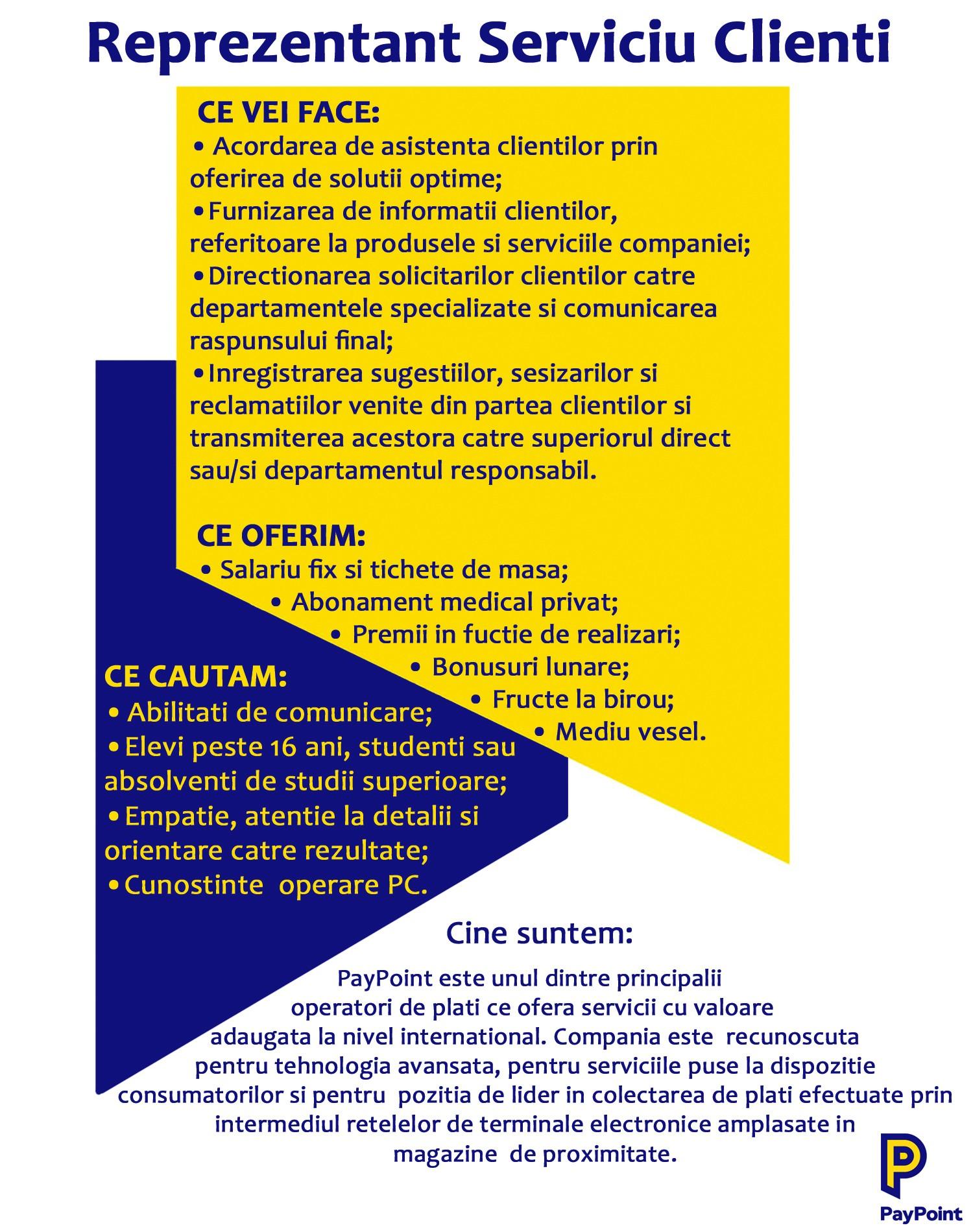 angajare - call center