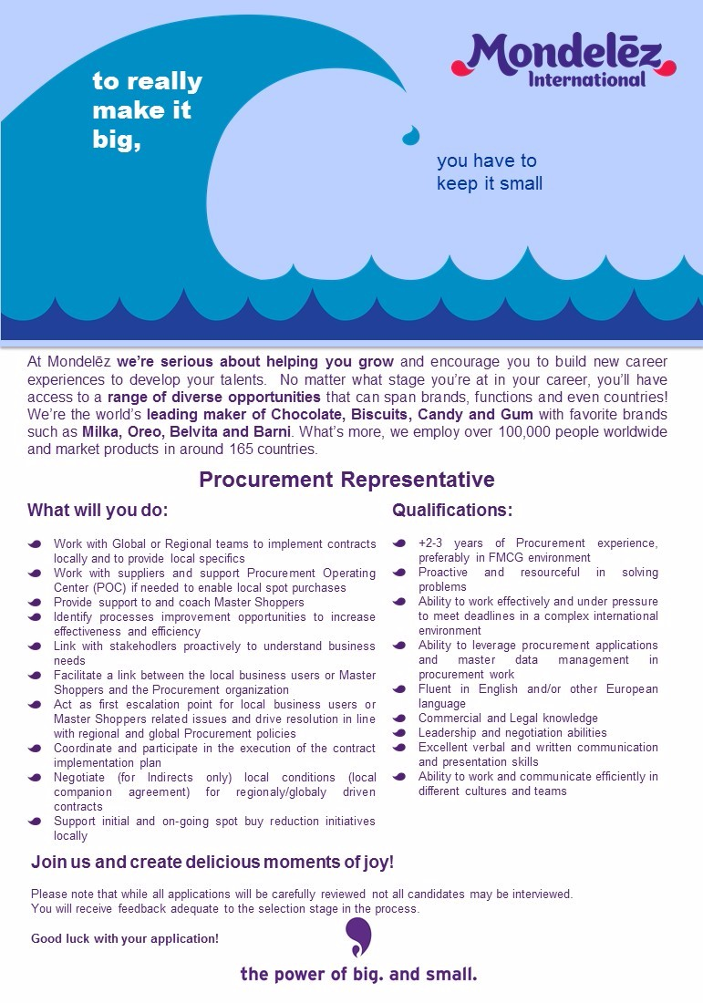 Procurement Specialist Job Ad