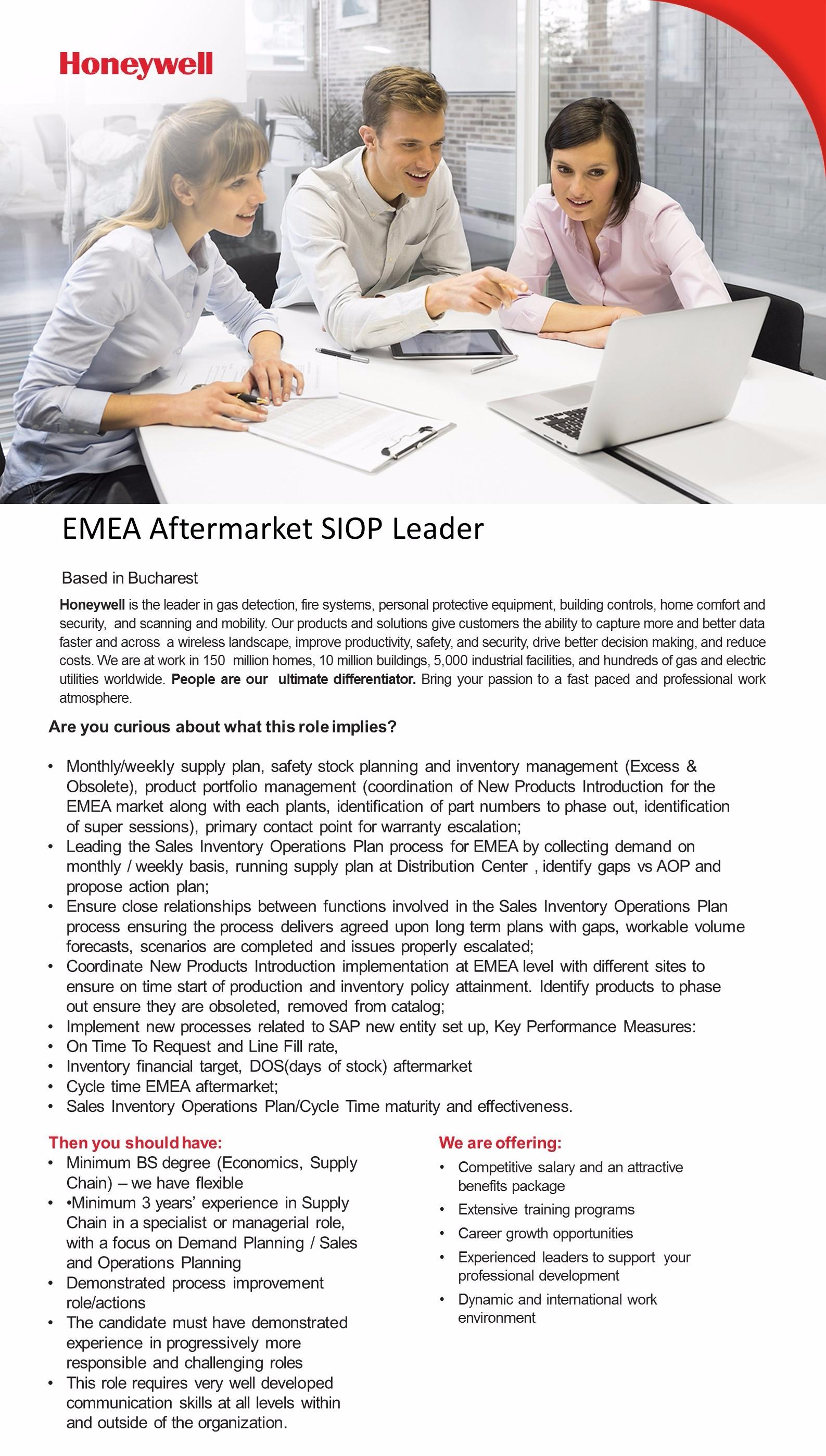 EMEA Aftermarket SIOP Leader