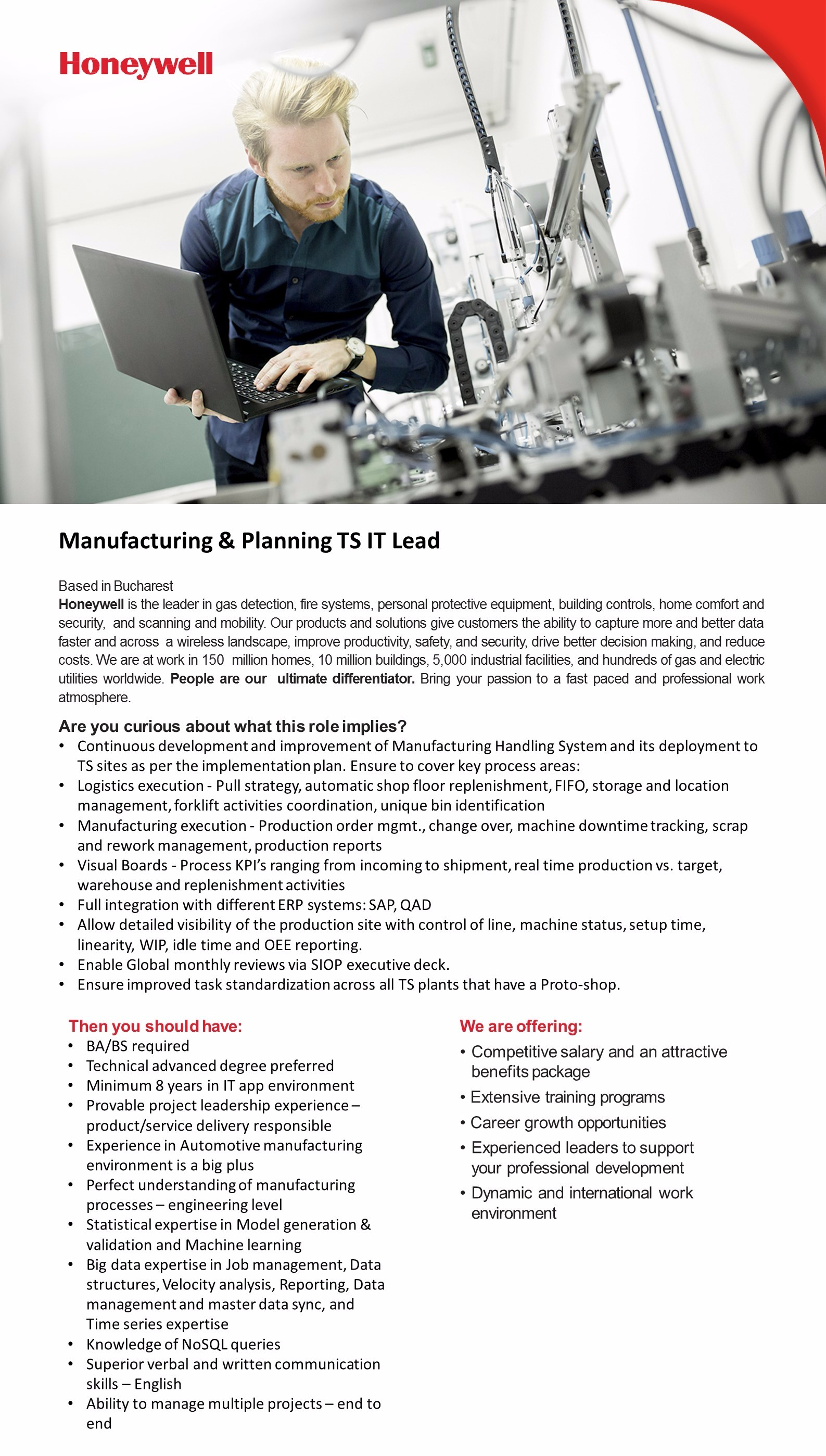 Manufacturing & Planning TS IT Lead