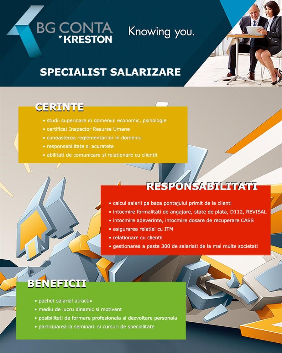 Specialist Salarizare