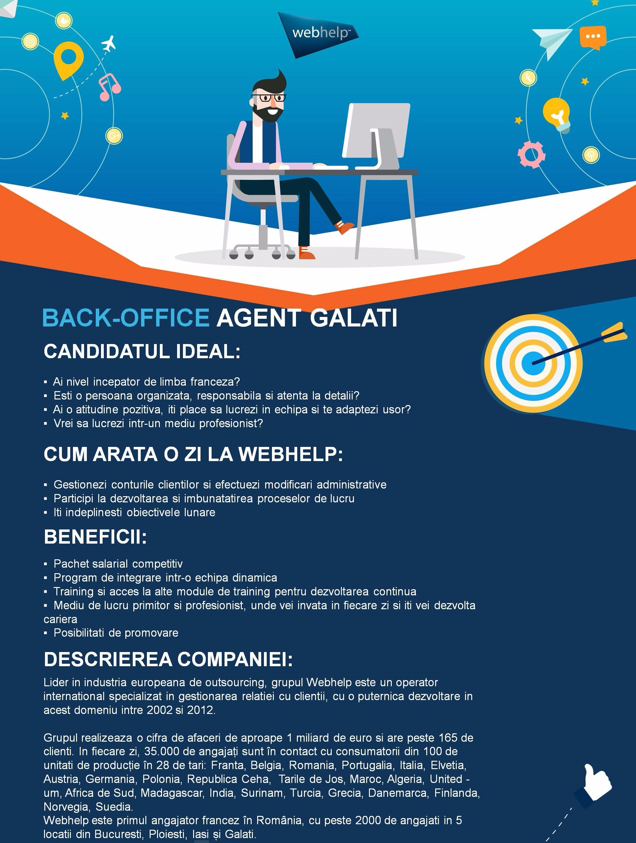 BACKOFFICE AGENT GALATI