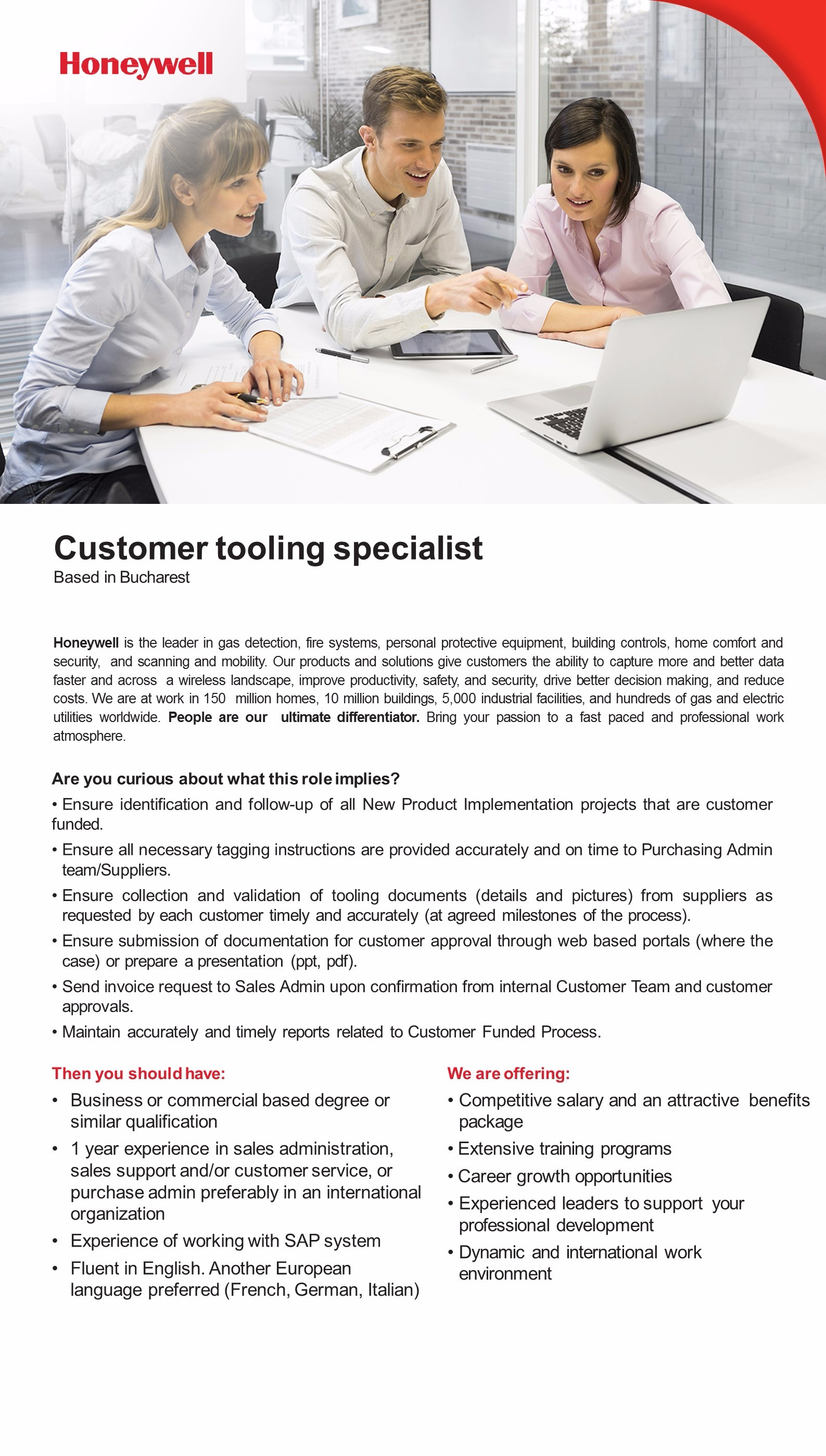 Customer tooling