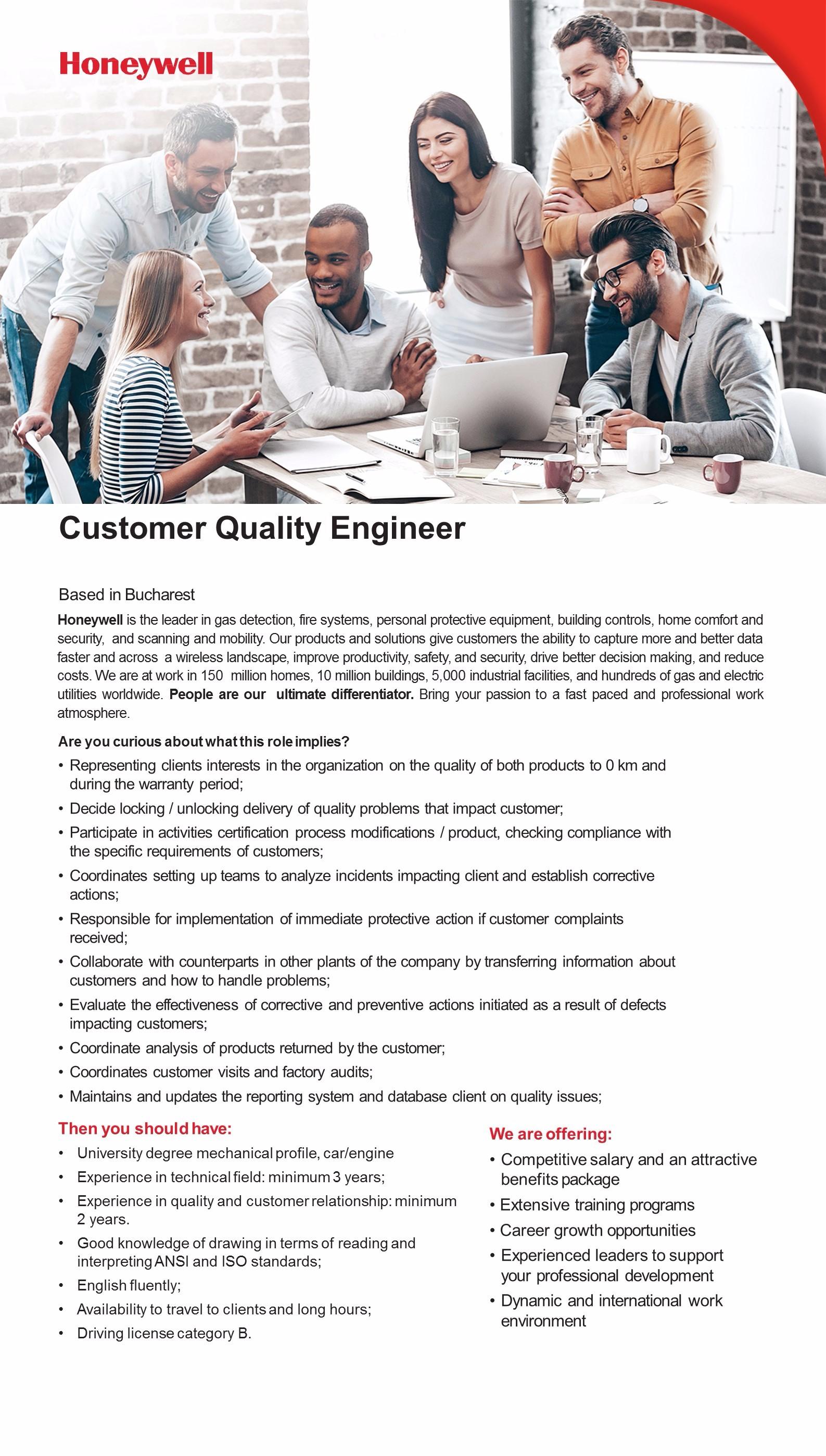 customer quality engineer