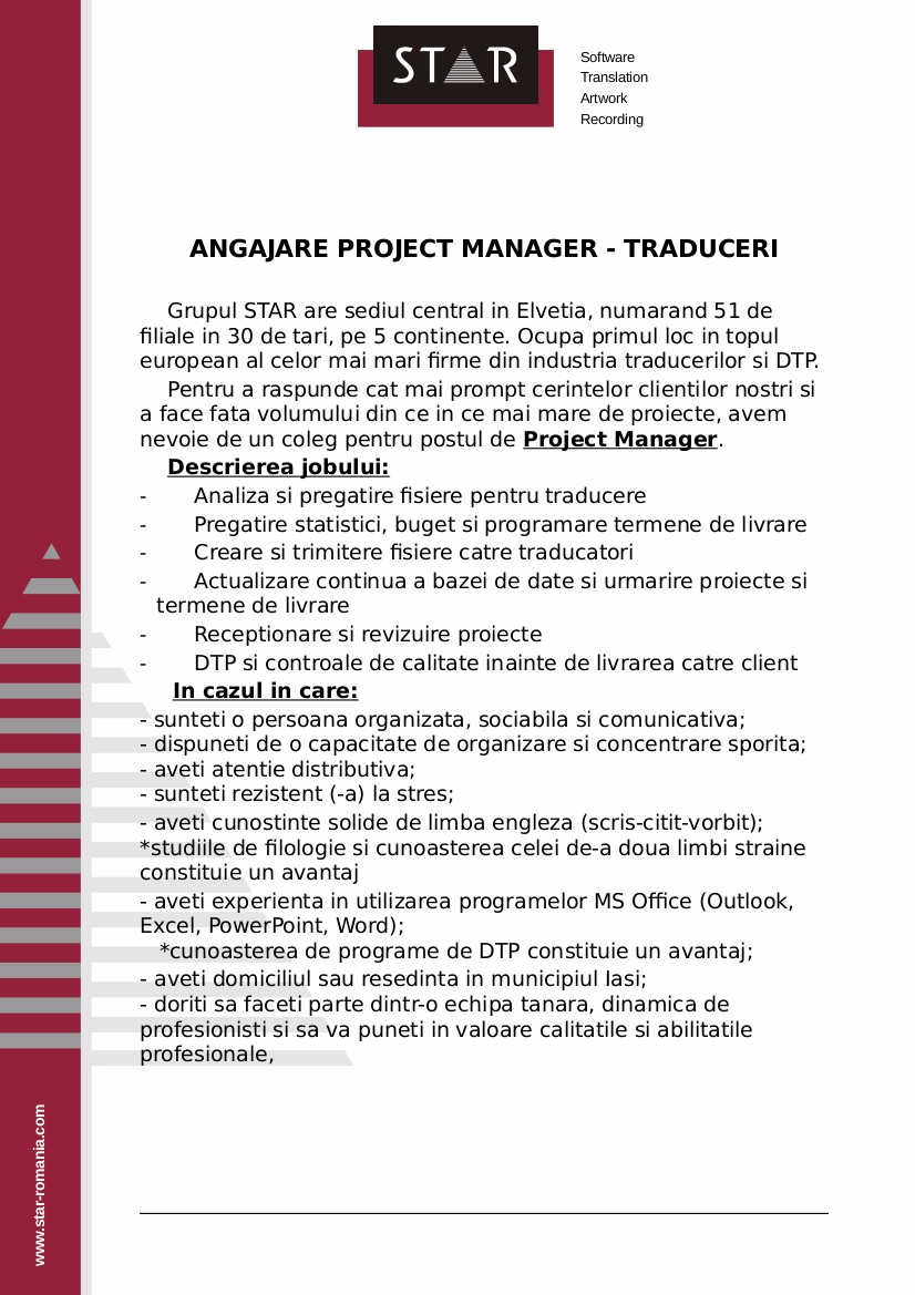 anunt bestjobs_project manager 2017_fara antet star