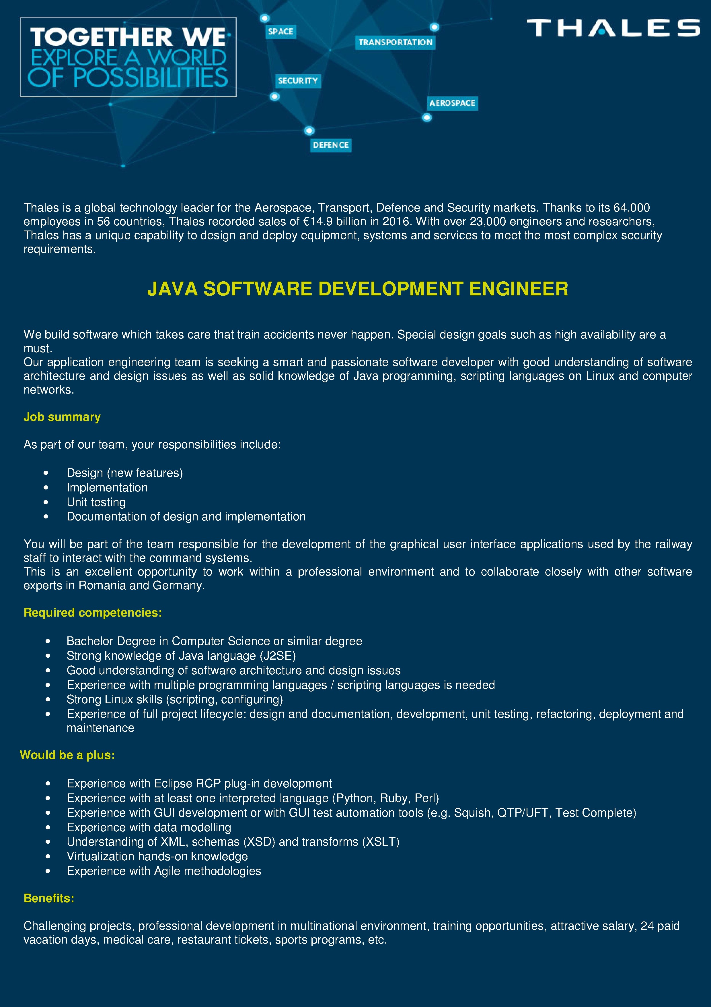 JAVA SW DEV ENG HIS new