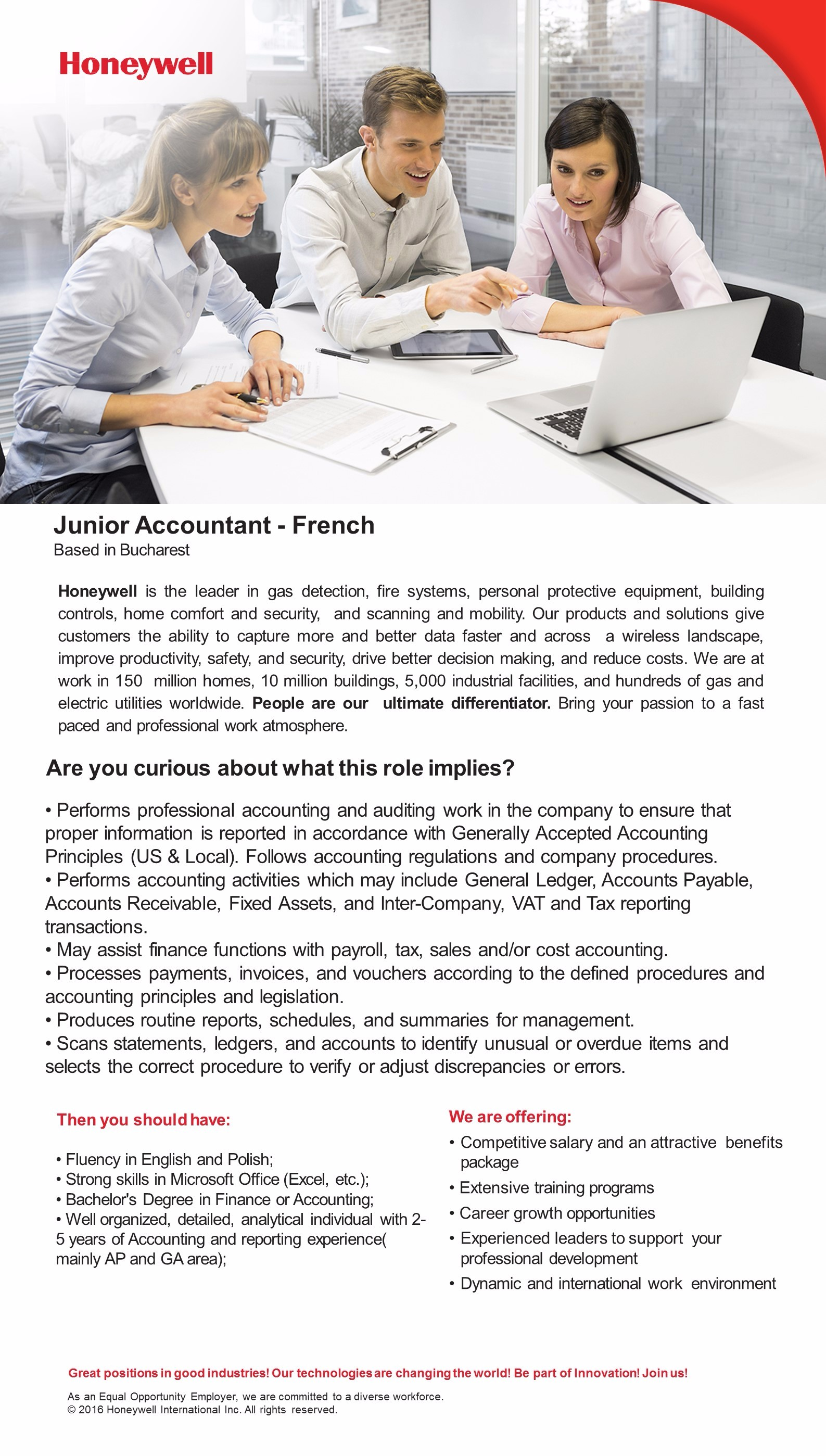 Junior Accountant French