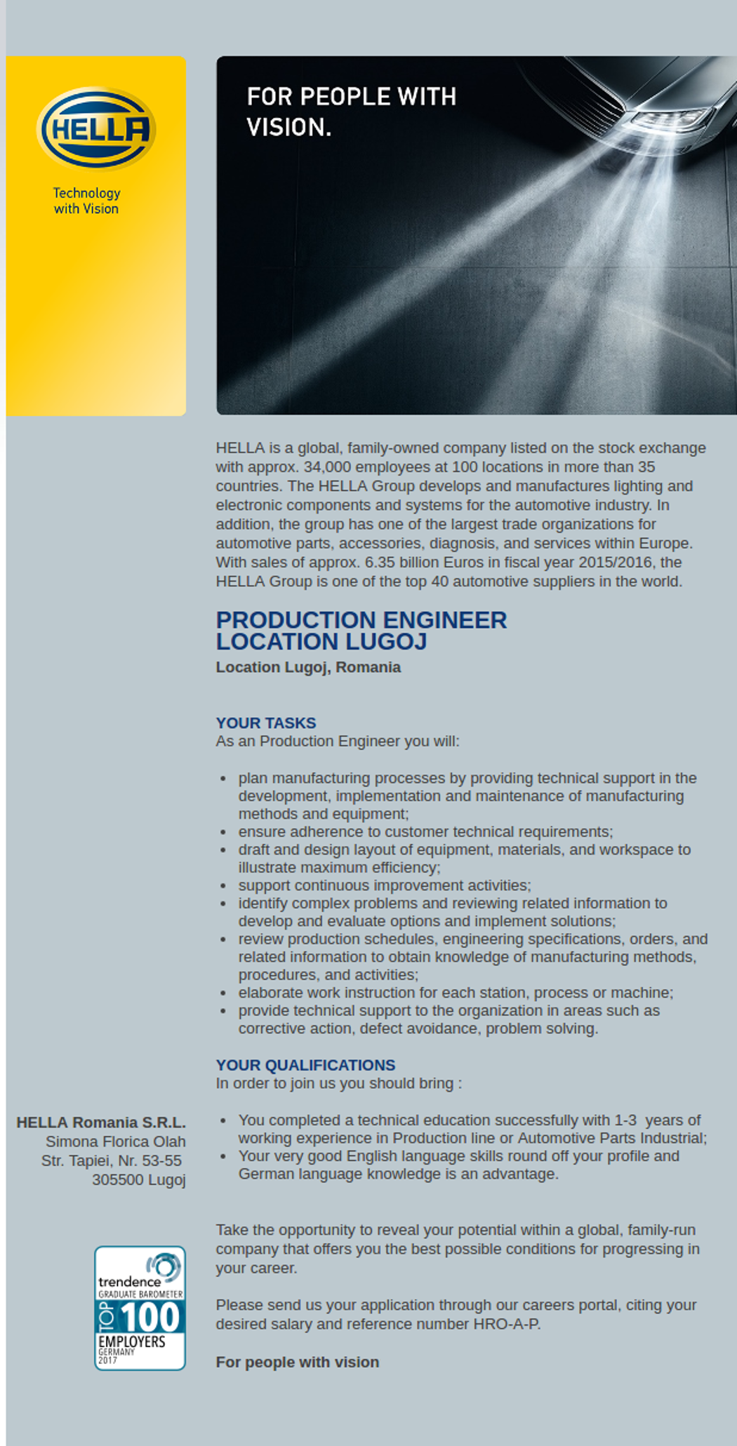 Production eng