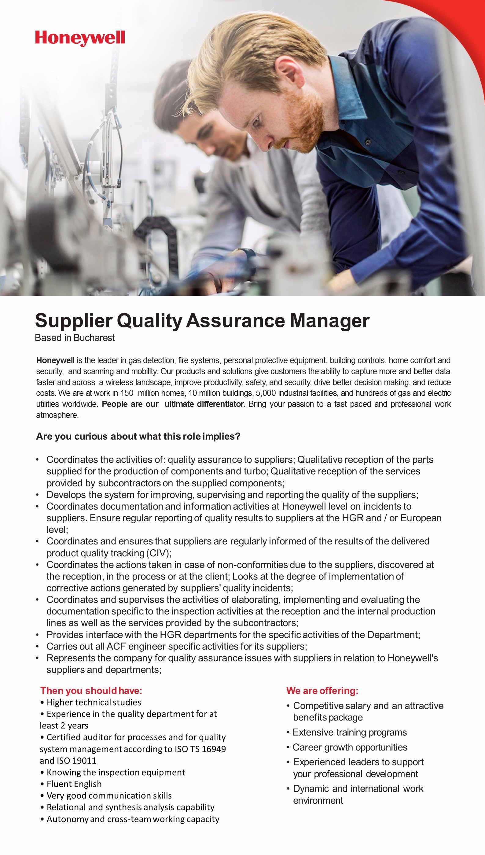 Supplier Quality Assurance Manager