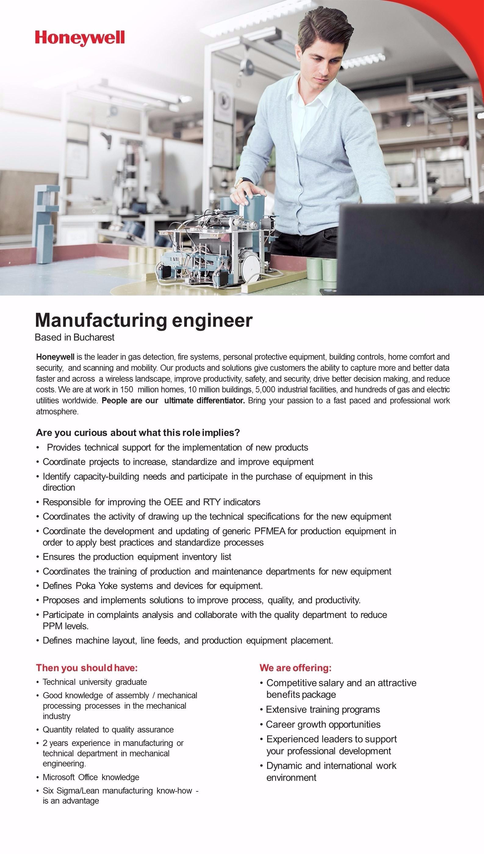 manufcturing engineer II
