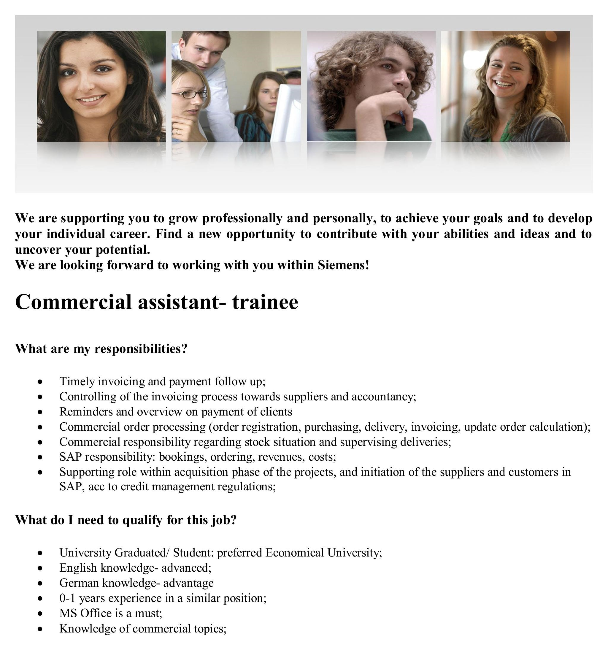 Commercial assistant- trainee pdf