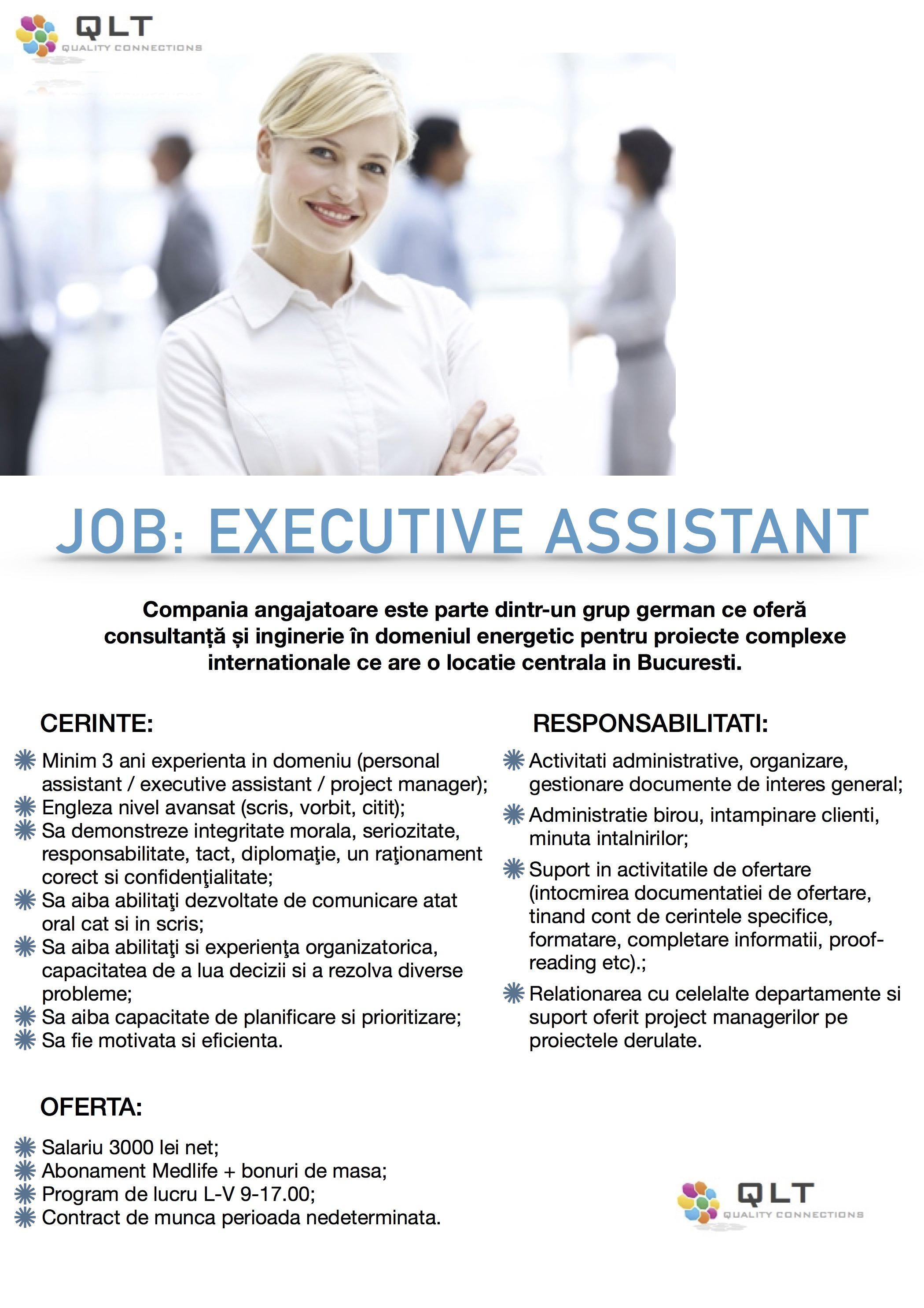 Executive assistant (fara date)