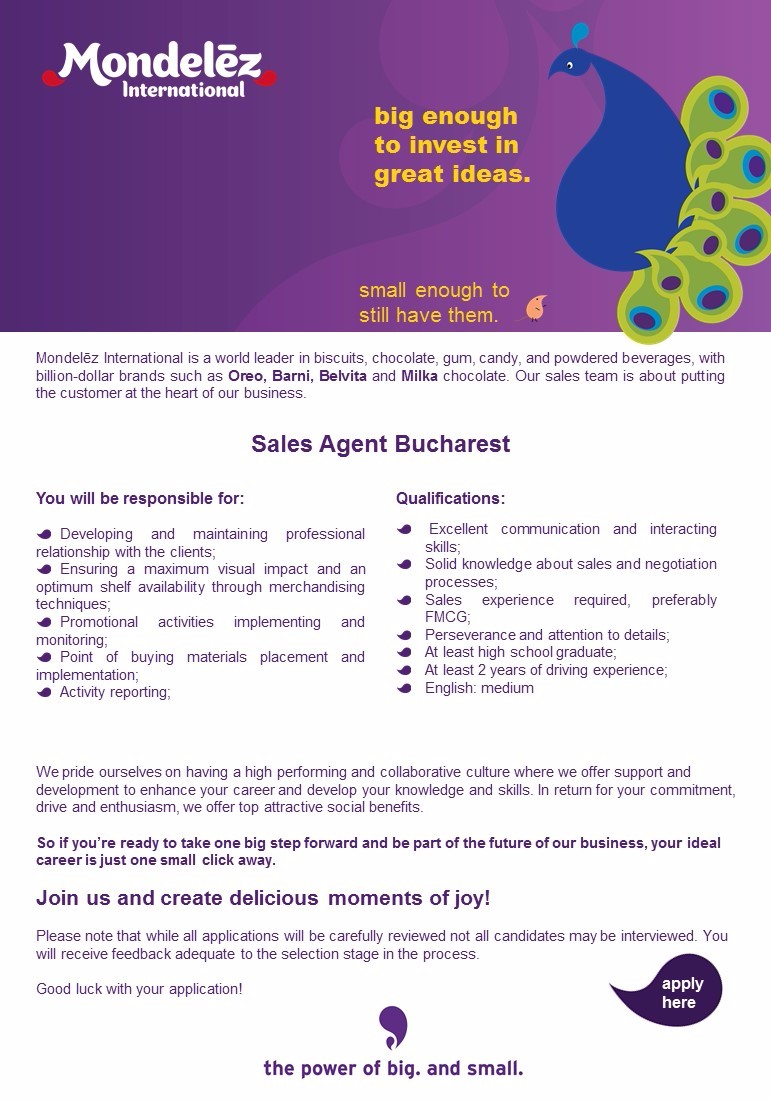Sales Agent Bucharest