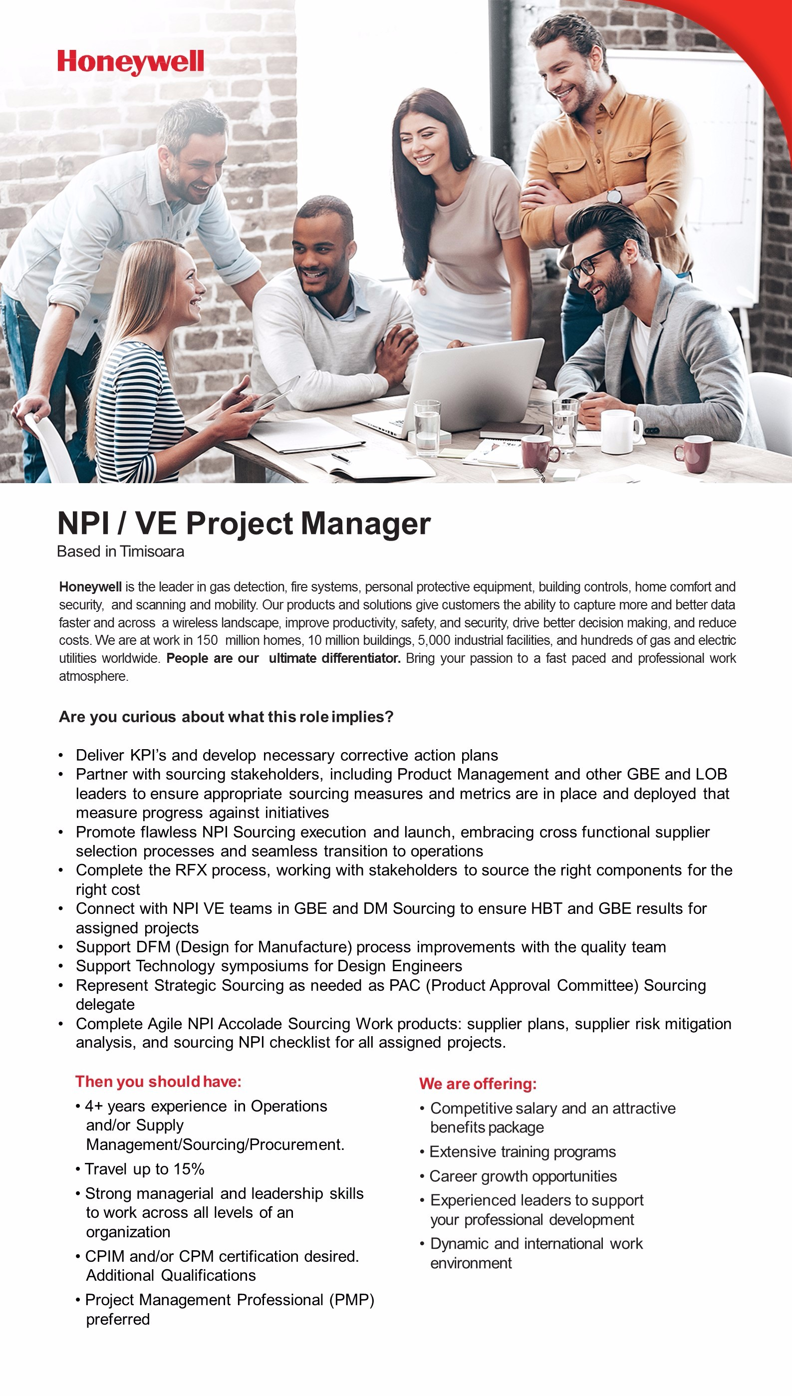 NPI VE Project Manager