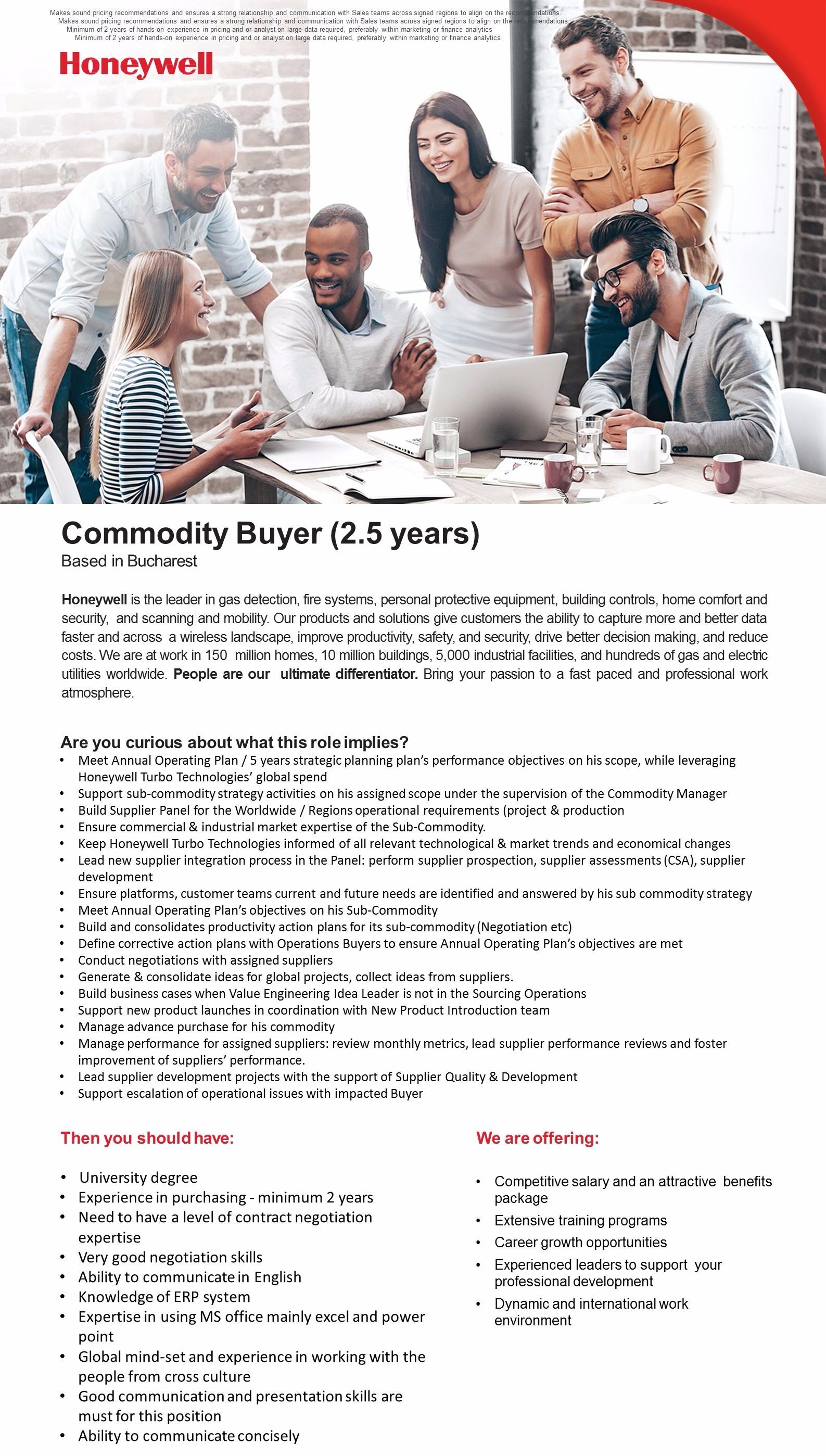 Commodity buyer (2,5 years)
