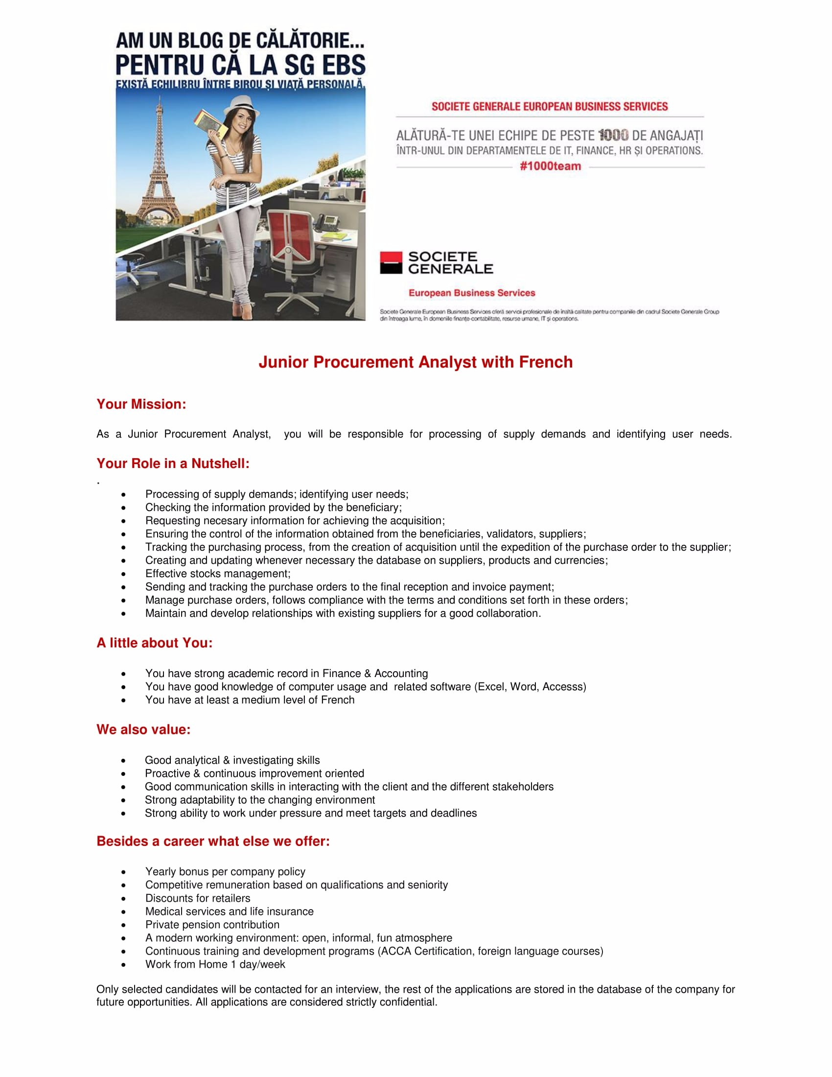 Junior Procurement Analyst With French-1