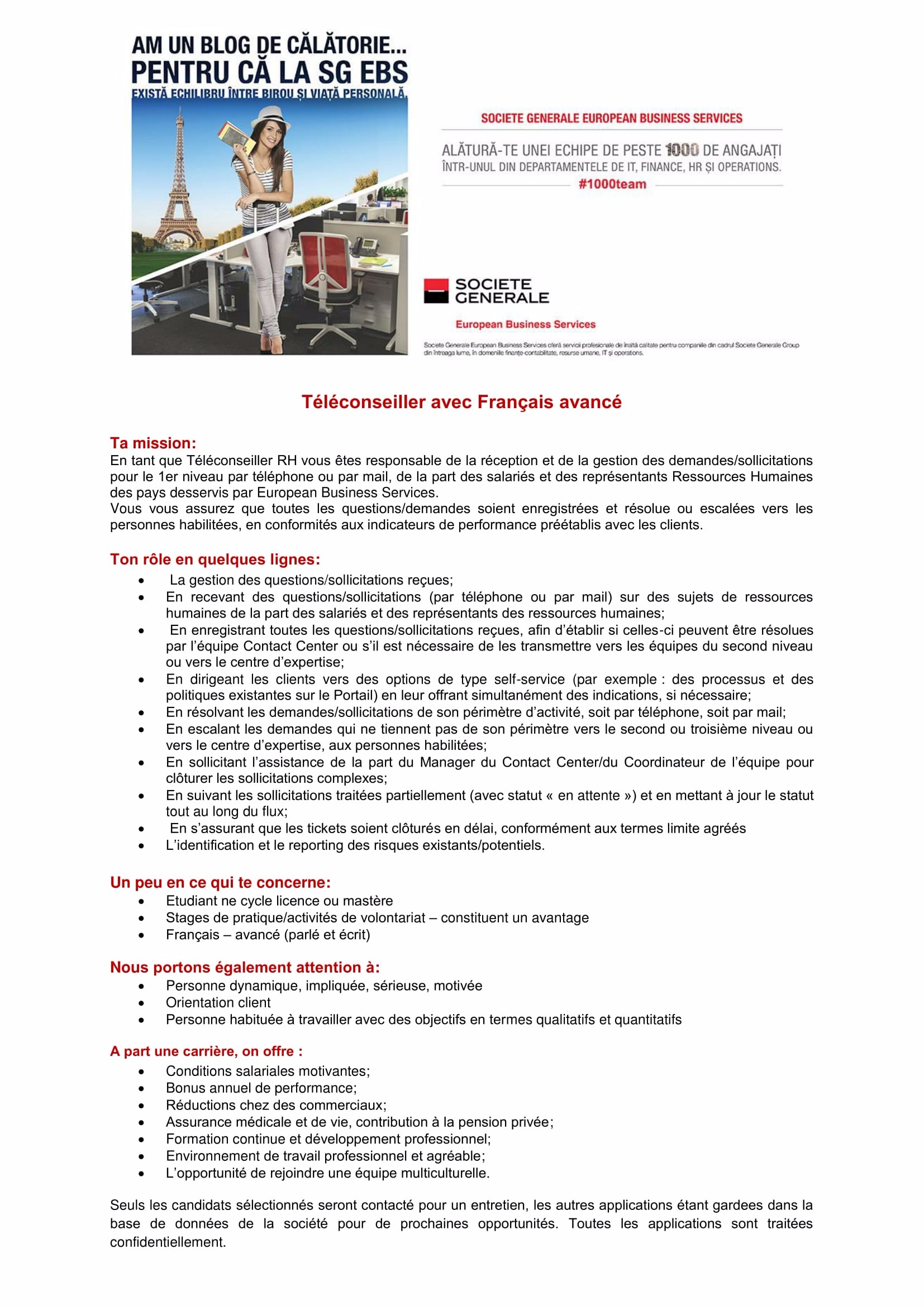 Téléconseiller avec Français avancé - site-uri de recrutare-1
