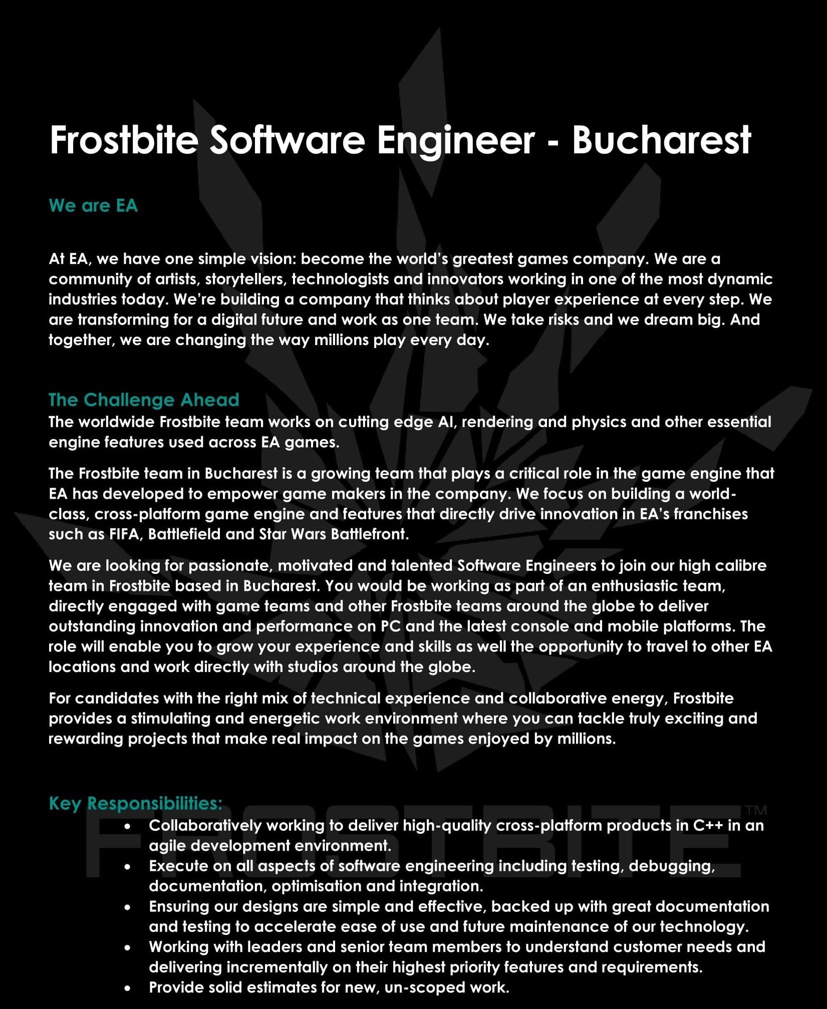 Frostbite Software Engineer Bucharest V3-1