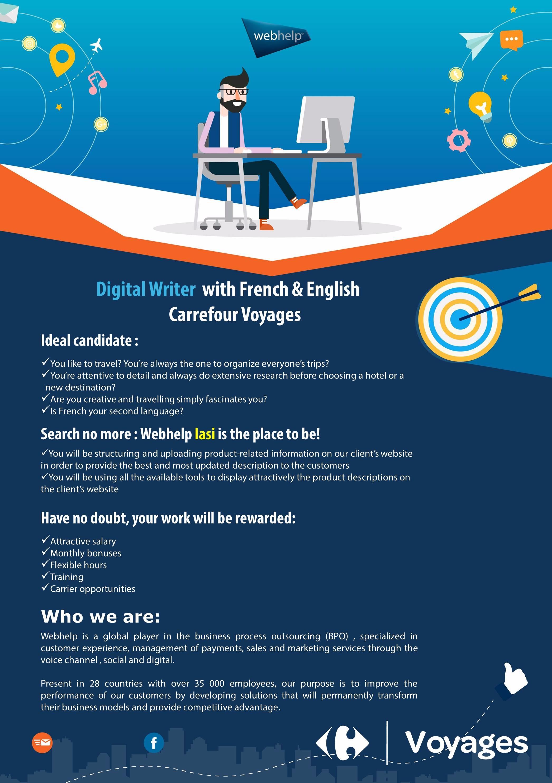 Digital Writer FR si EN - Iasi