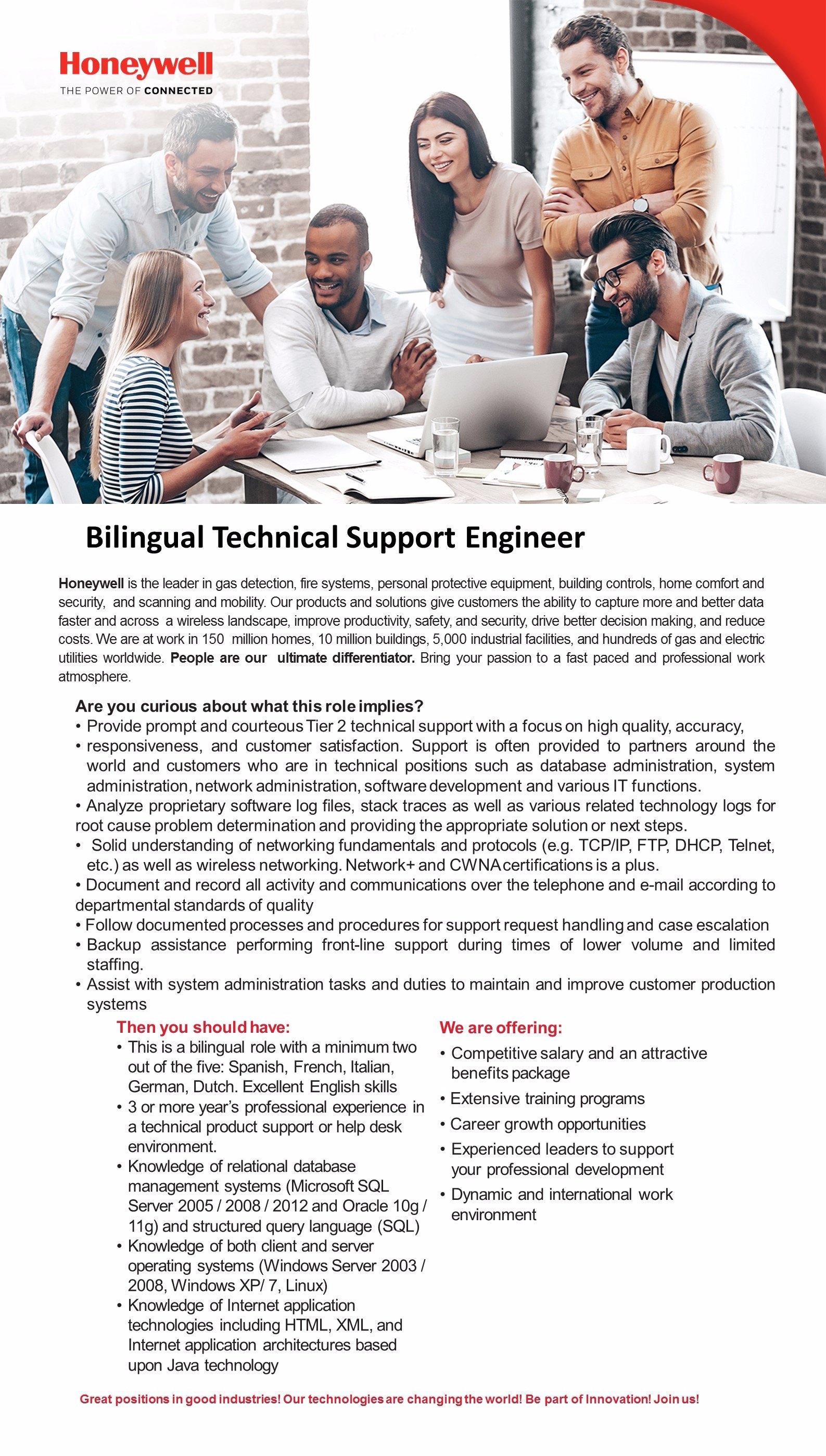 Bilingual Technical Support Engineer