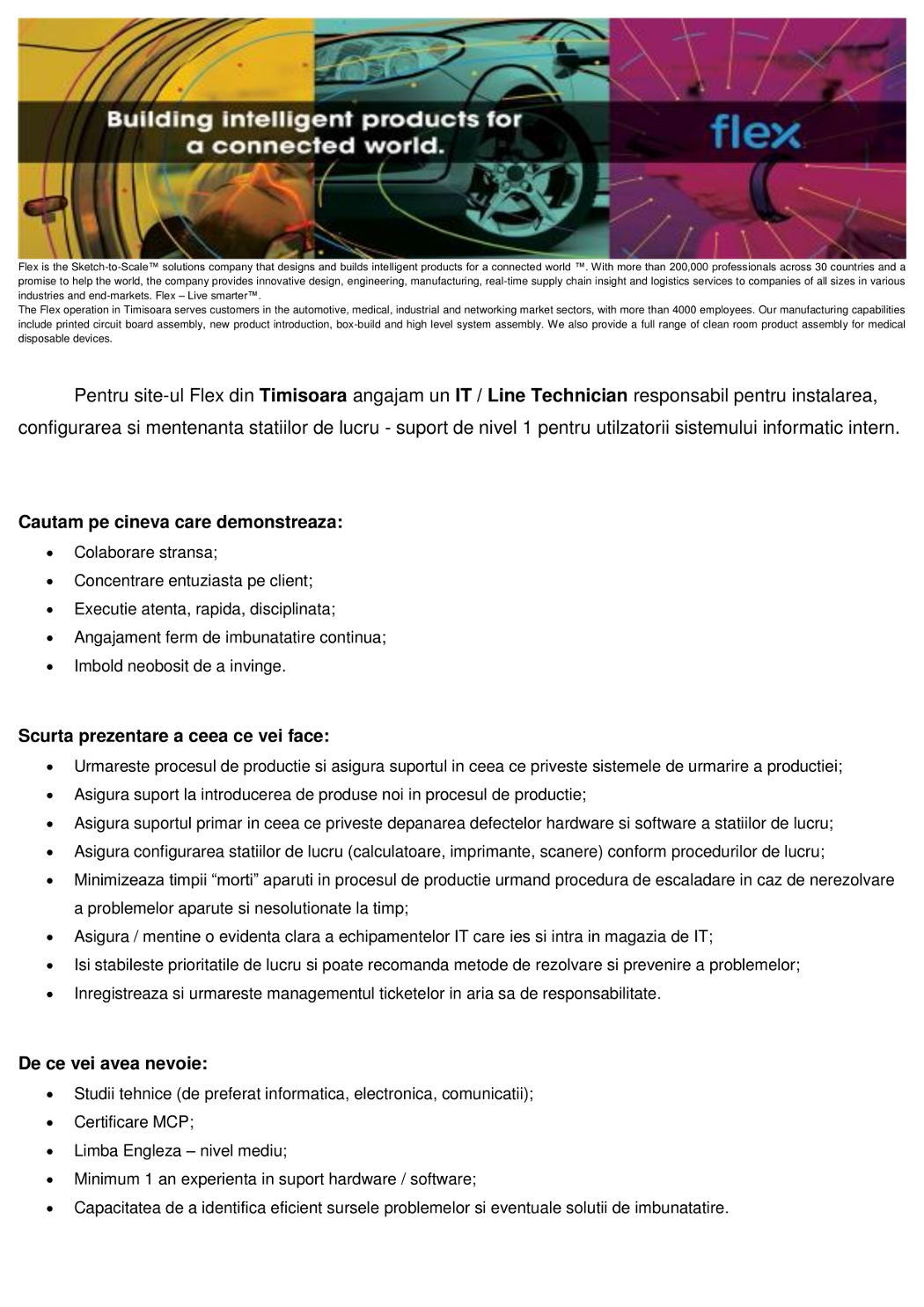 Anunt extern - IT-Line Technician111