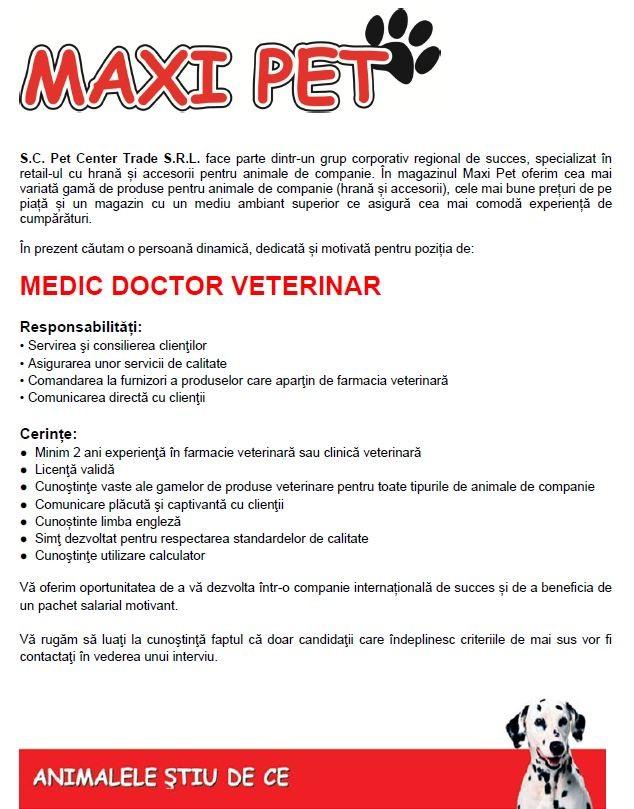 Anunt medic veterinar - varianta noua