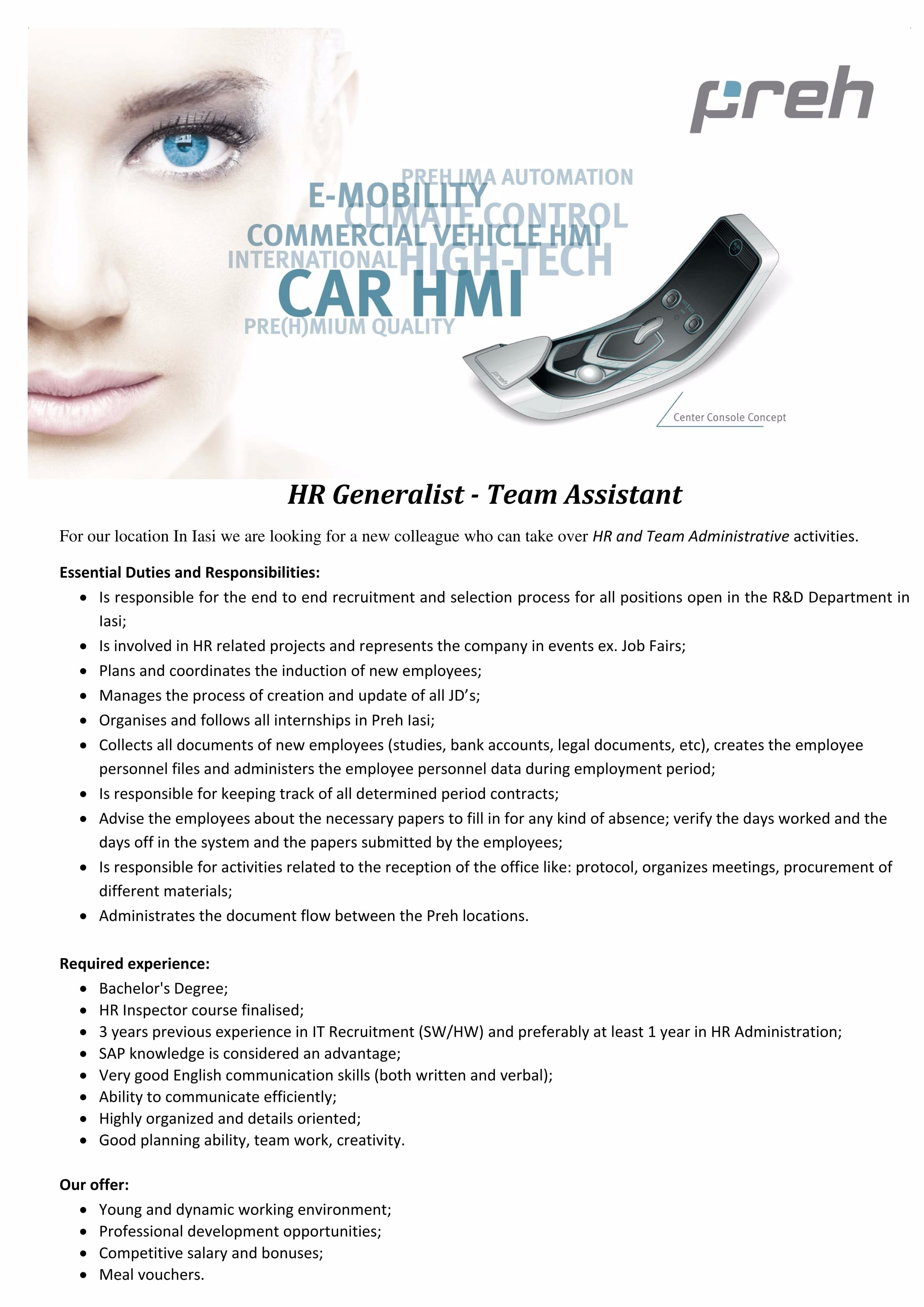 HR and Team Assistant-1