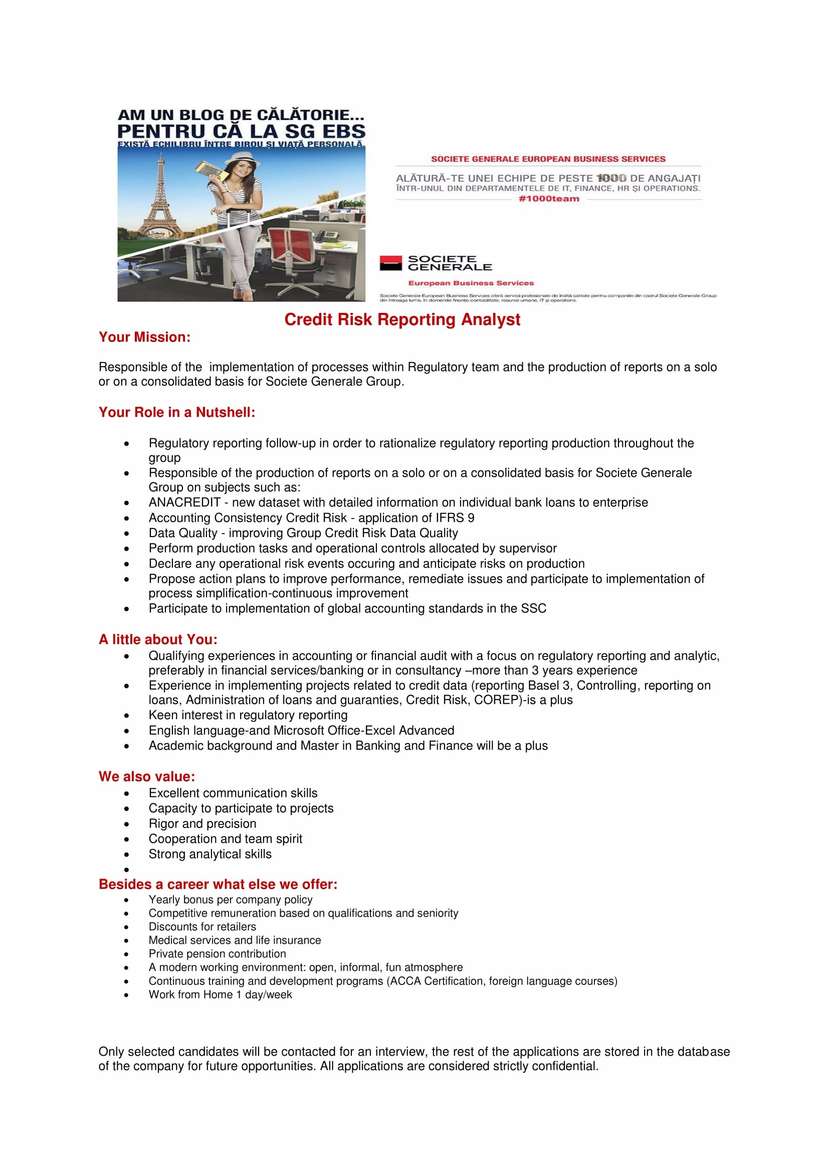 Credit Risk Reporting Analyst-anunt site-uri recrutare-1