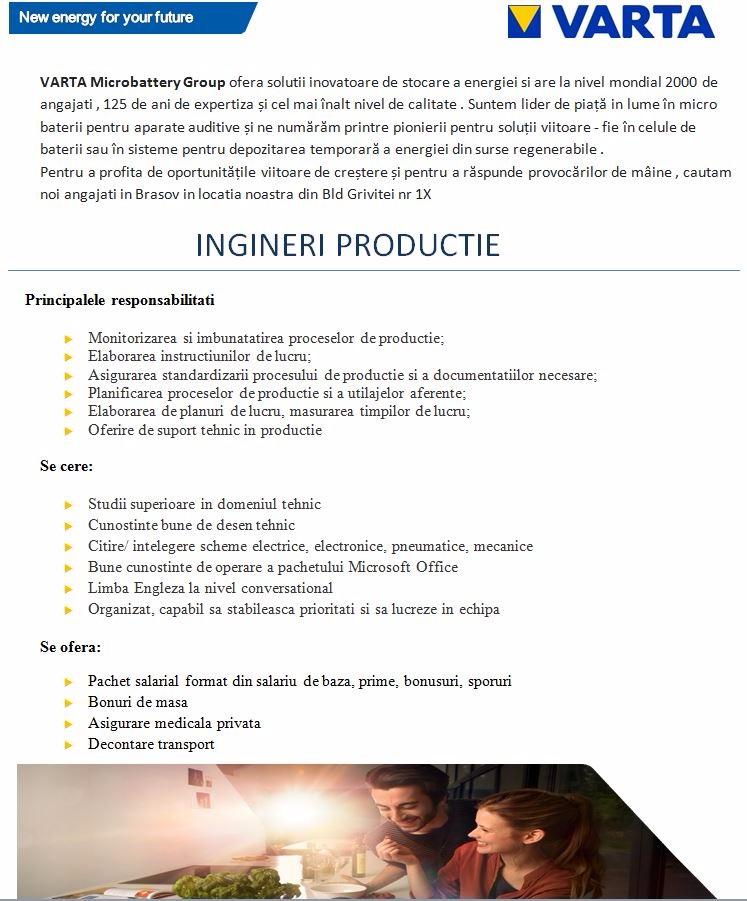 Anunt Ingineri Productie