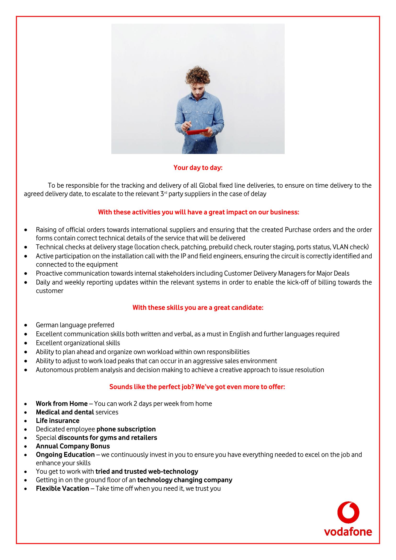 Order Management Specialist  -1