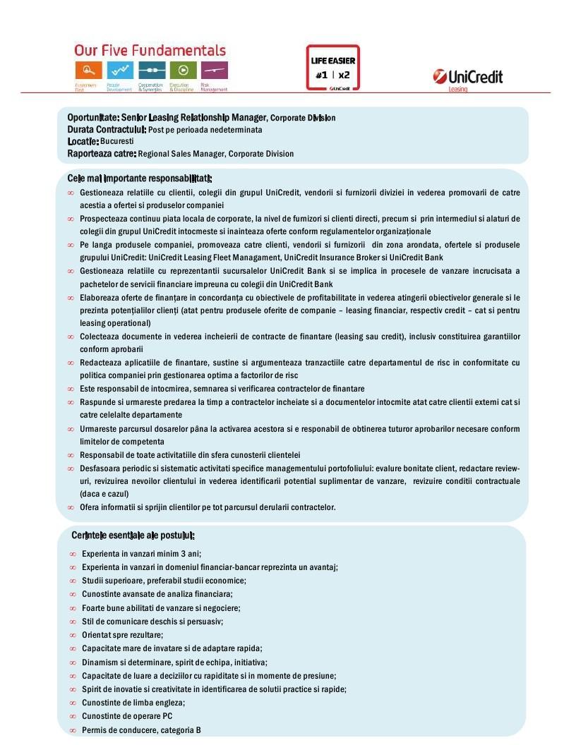 06_17  Leasing Relationship Manager, Bucuresti