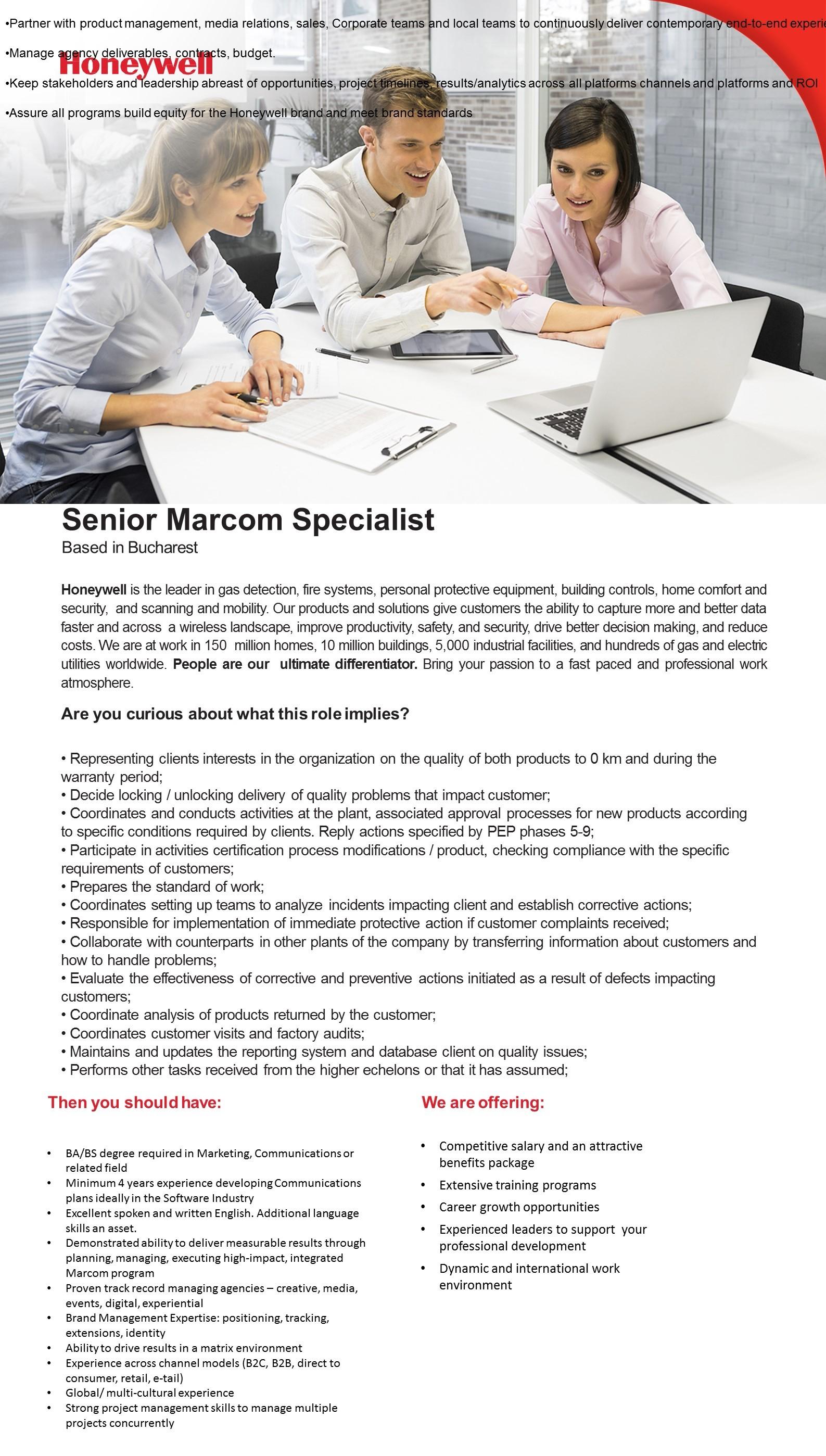 Senior marcom specialist
