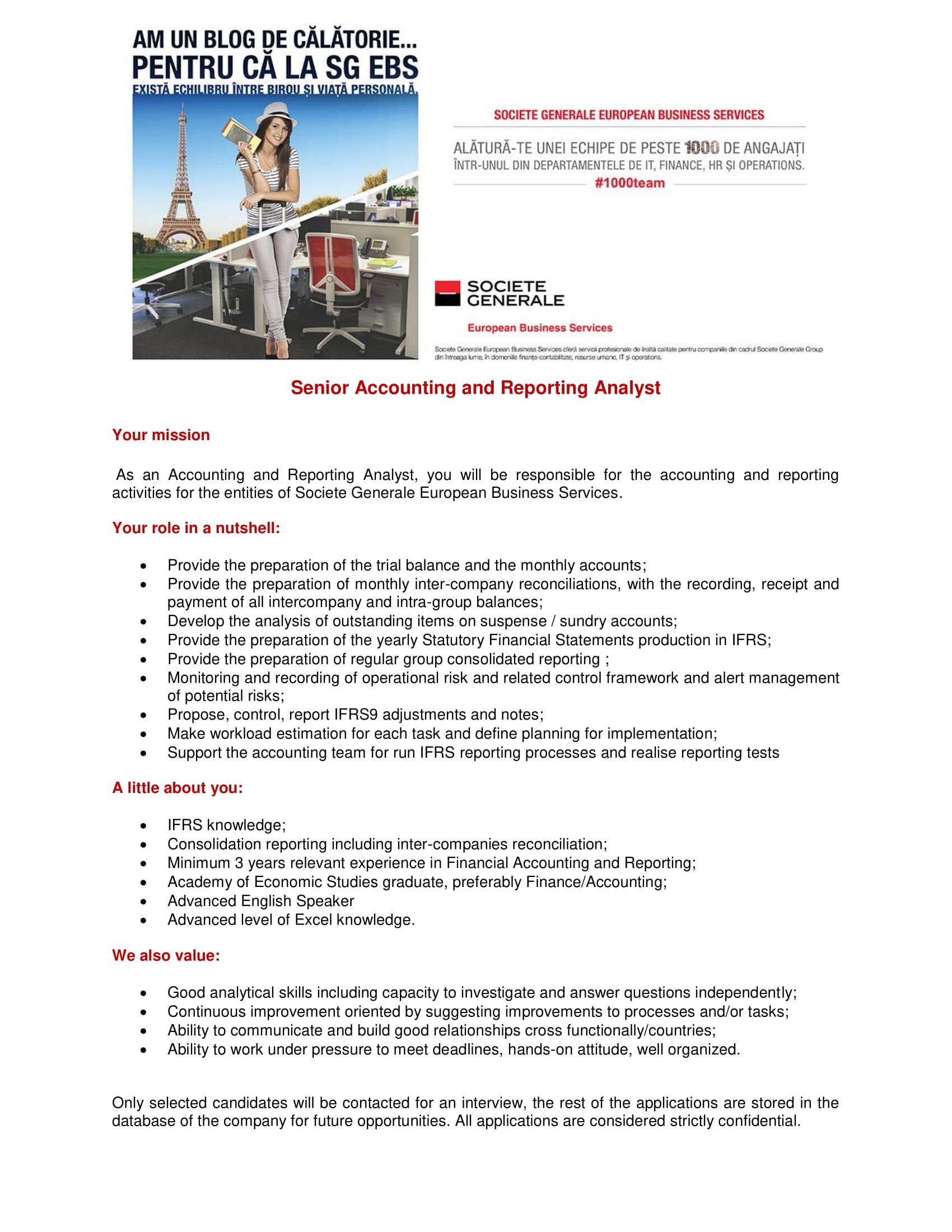 SR Accounting and Reporting Analyst with English-1