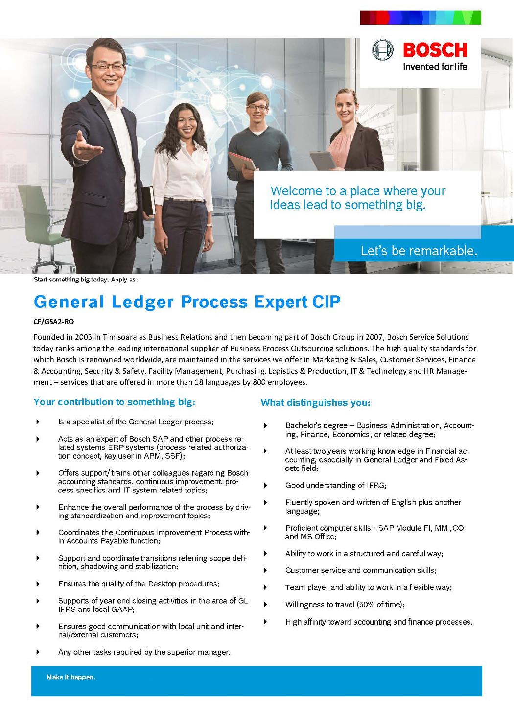 general ledger process expert cip