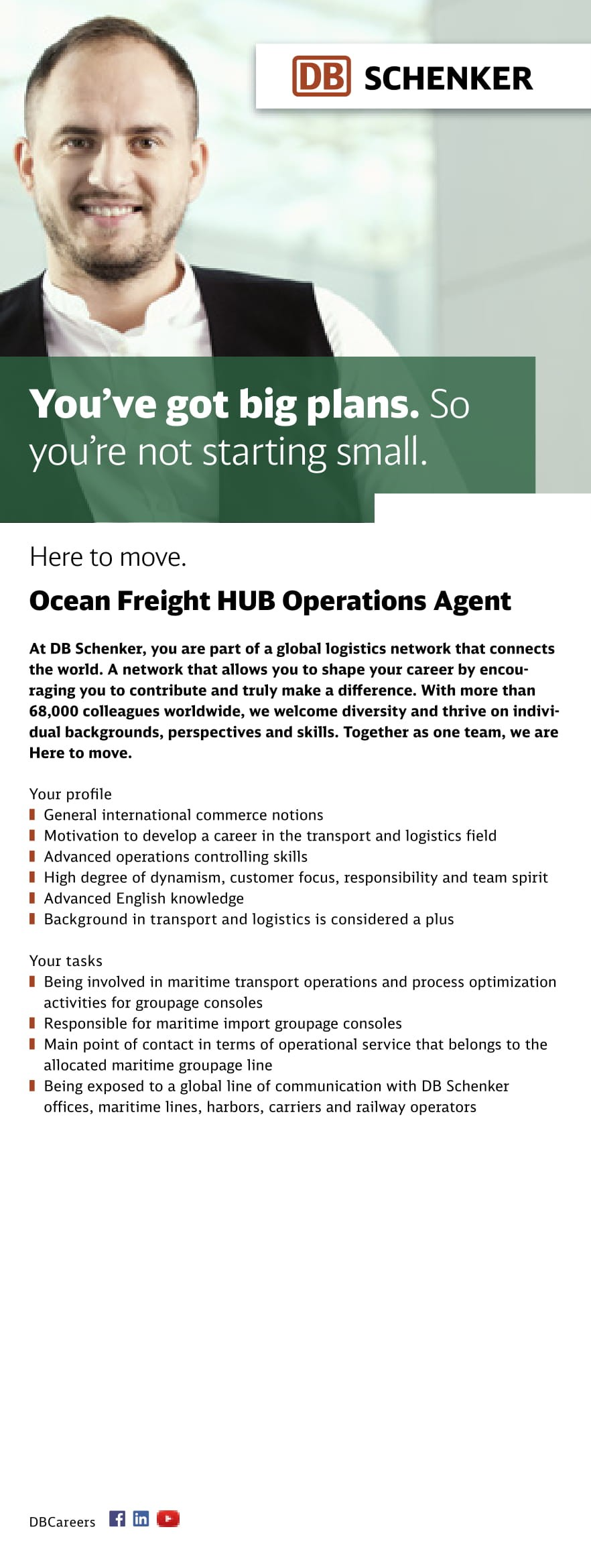 Ocean Freight HUB Operations Agent