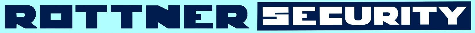 Logo RottnerSecurity Blautöne Nebeneinander