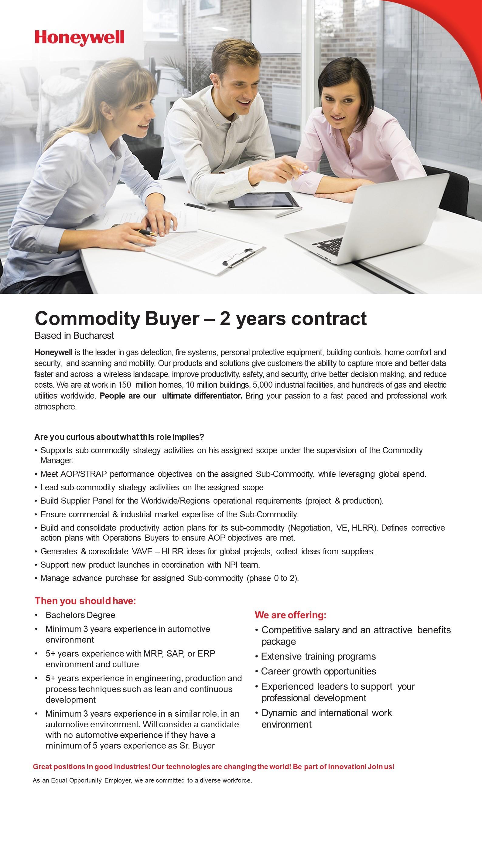 Commodity buyer 2 years contract
