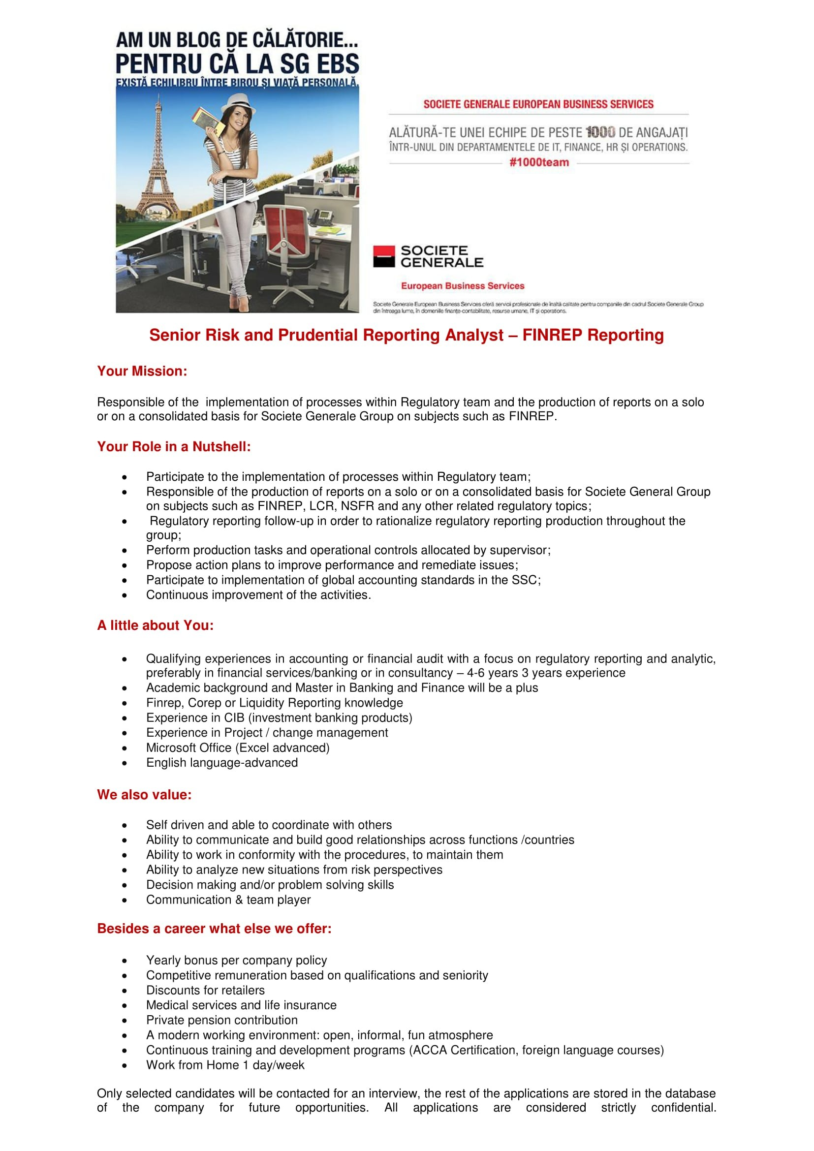 Senior Risk and Prudential Reporting Analyst - FINREP -site recrutare-1