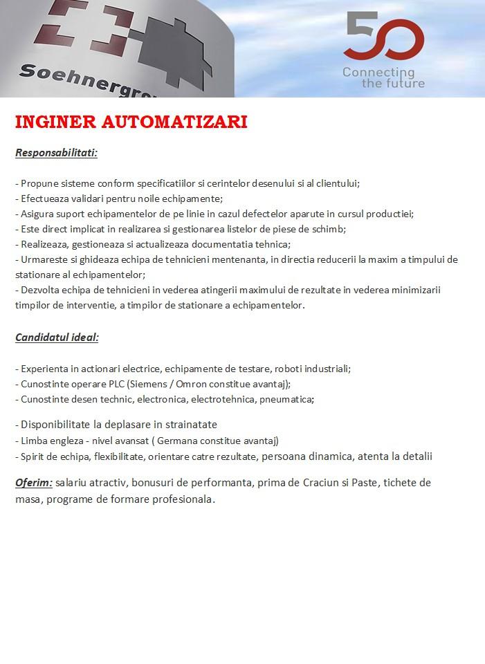 Inginer automatizari
