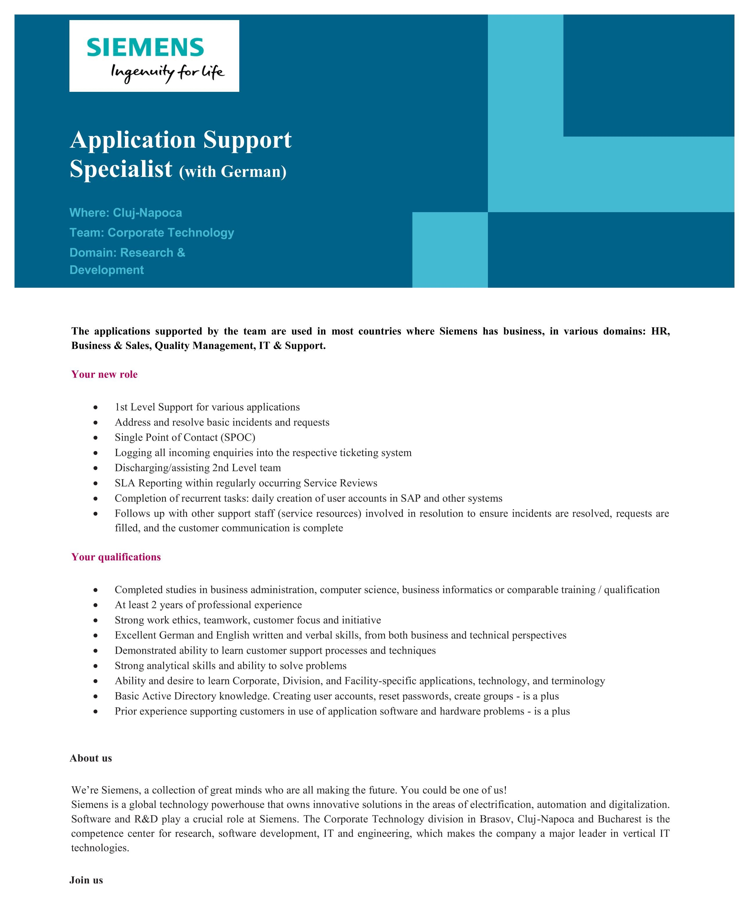 Applications Support Specialist - UHD