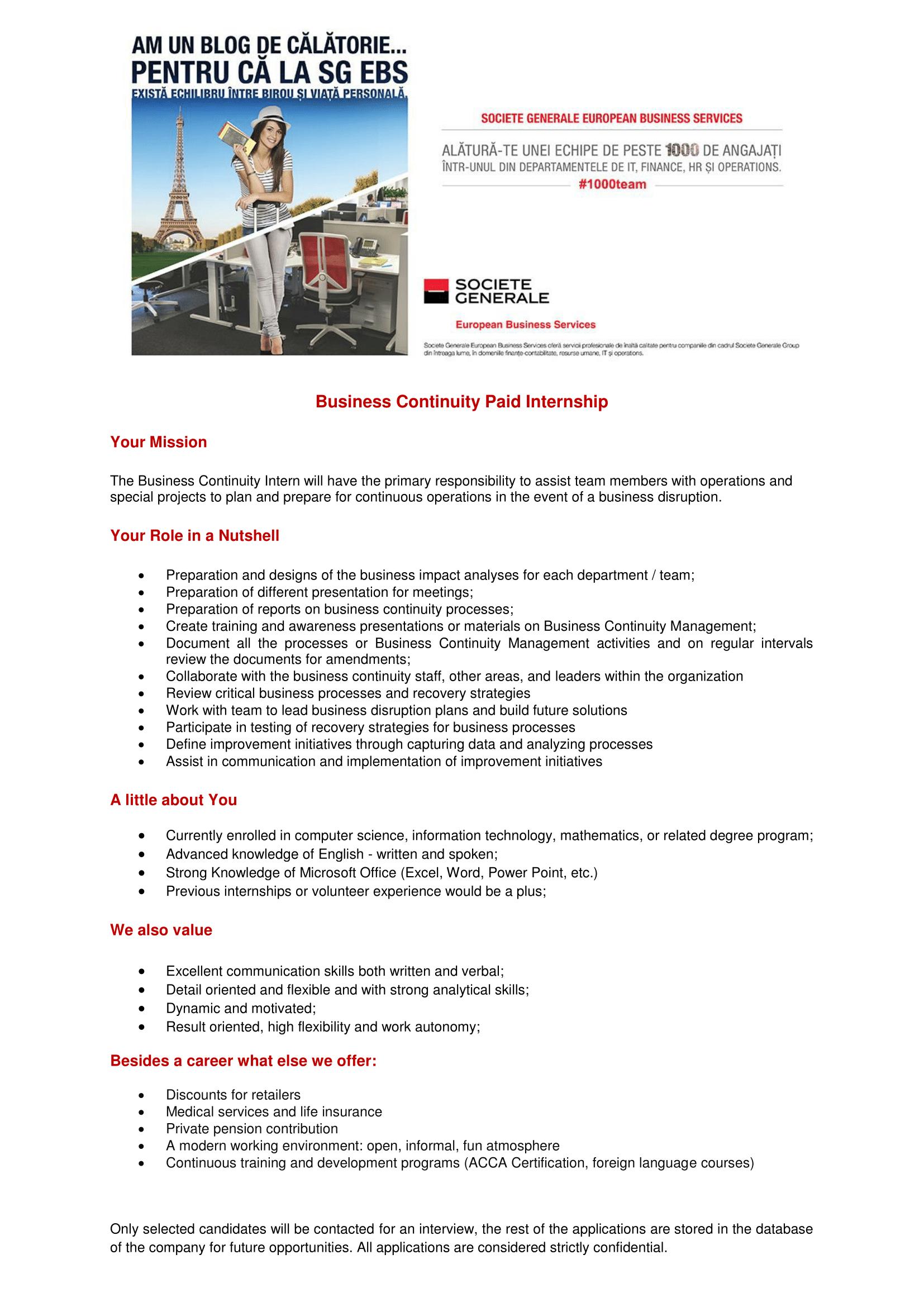 Business Continuity Paid Internship-1