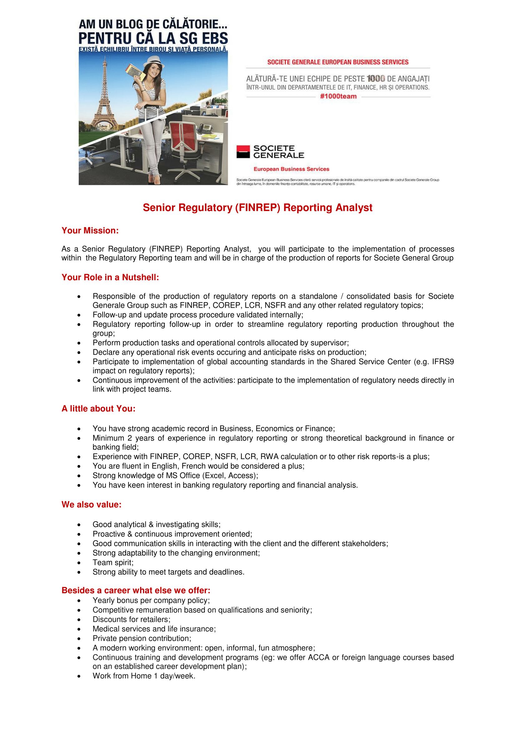 Senior Regulatory (FINREP) Reporting Analyst_SG EBS-1